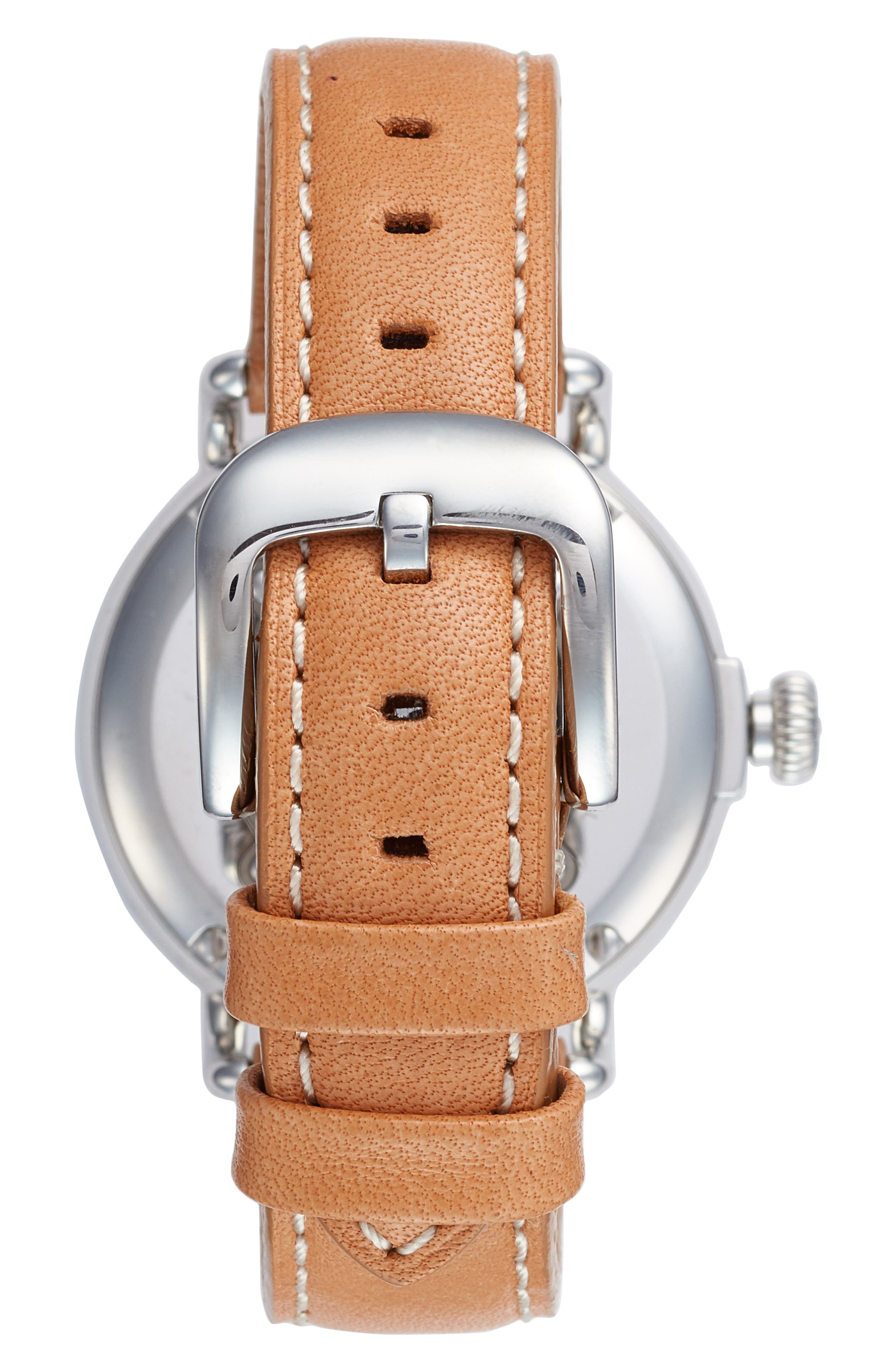 The Runwell Leather Strap Watch, 38mm,                             Alternate thumbnail 2, color,                             ANILINE LATIGO/ SILVER