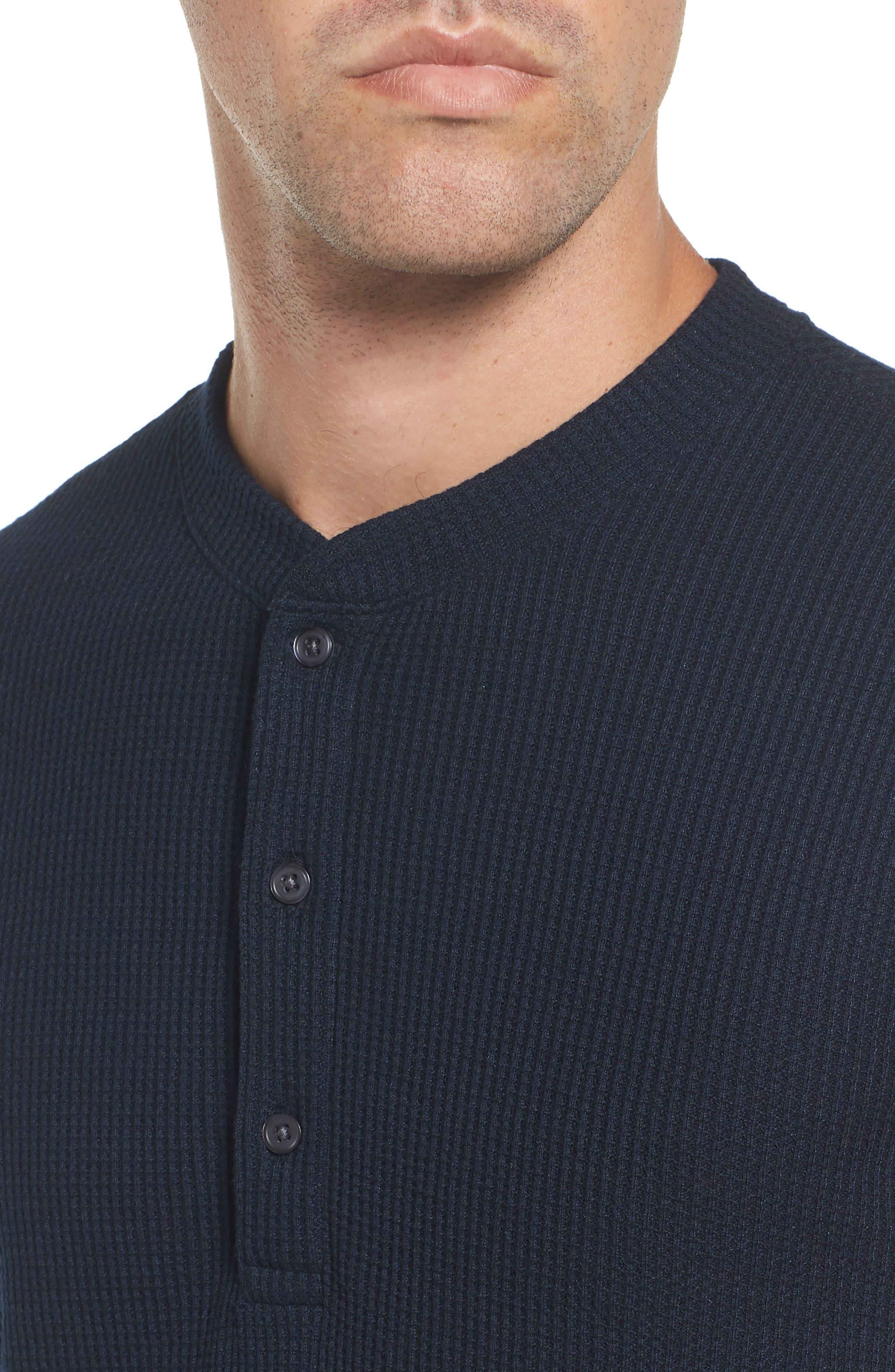 Slim Fit Long Sleeve Henley Shirt,                             Alternate thumbnail 11, color,