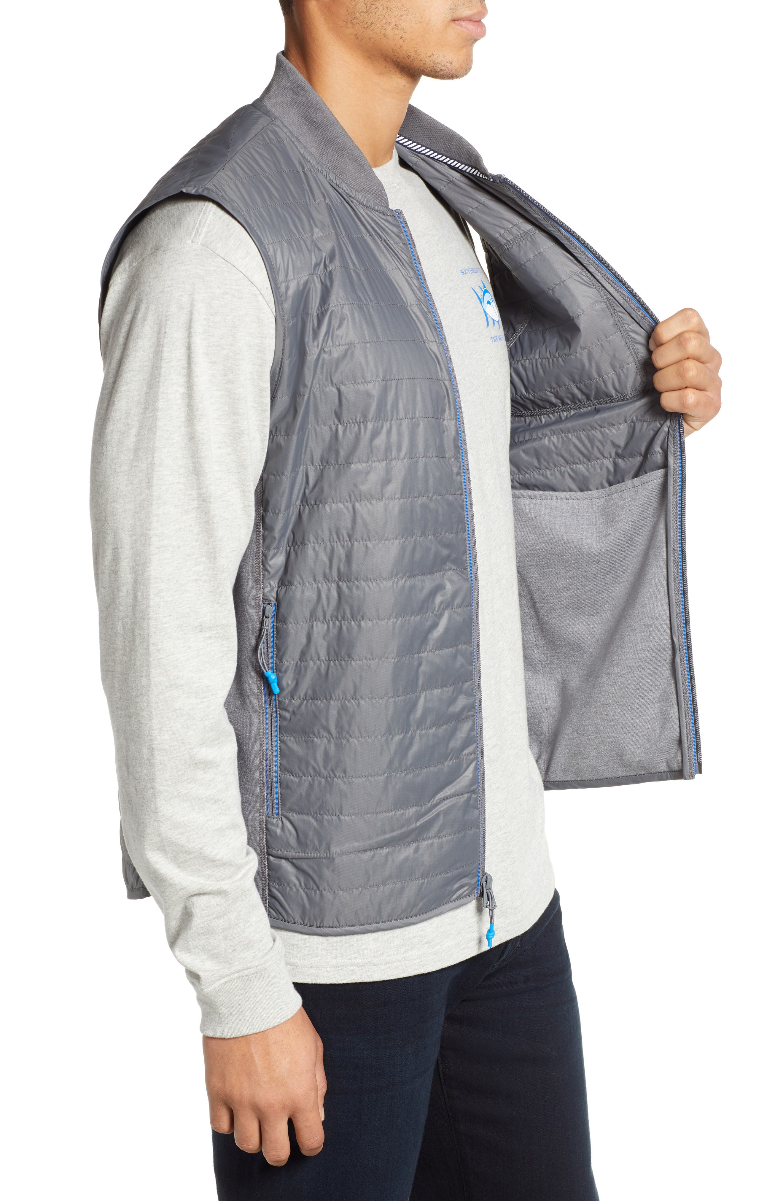 Forrest Creek Bomber Vest,                             Alternate thumbnail 3, color,                             SMOKED PEARL