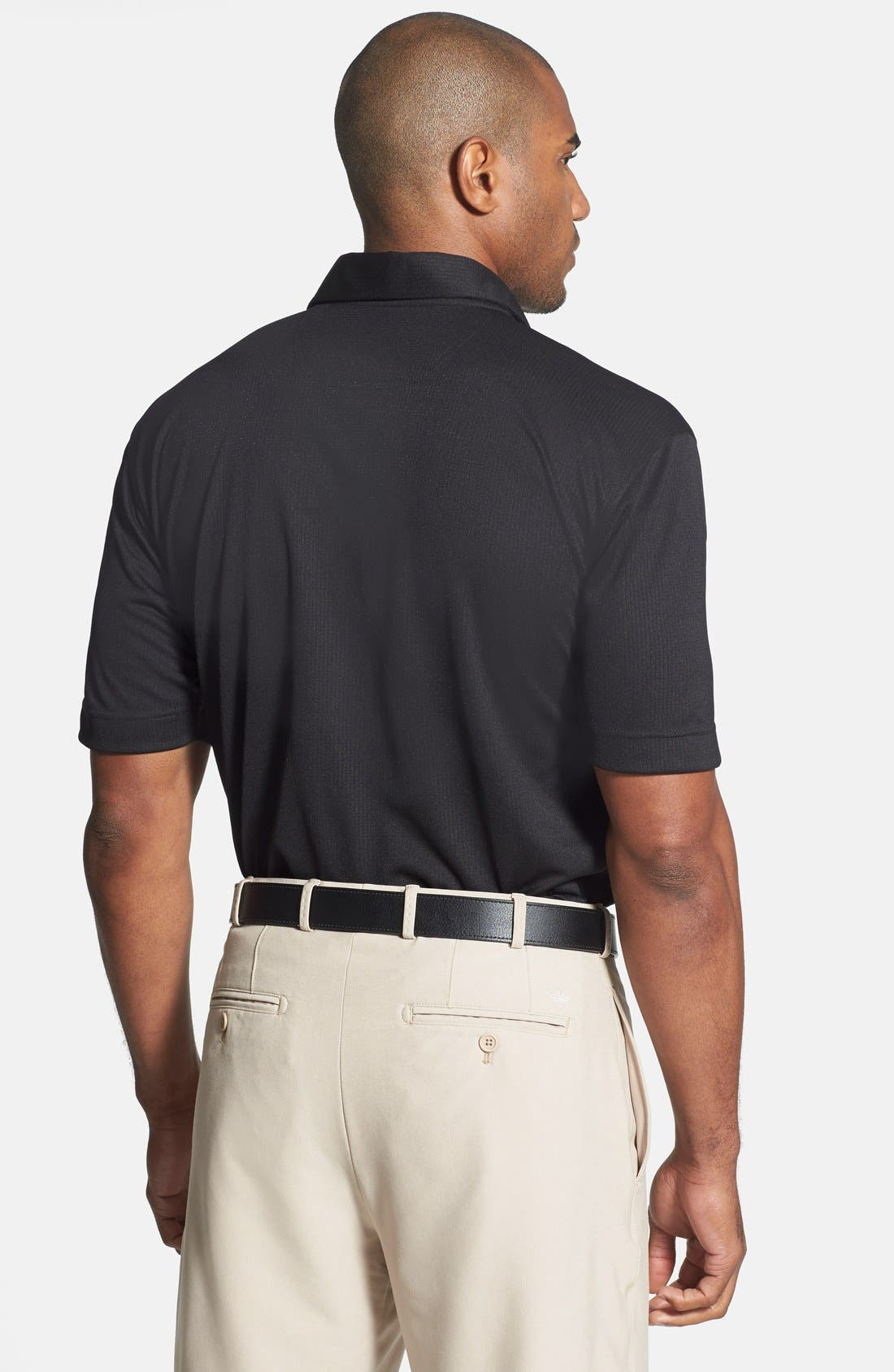 'Genre' DryTec Moisture Wicking Polo,                             Alternate thumbnail 4, color,                             BLACK