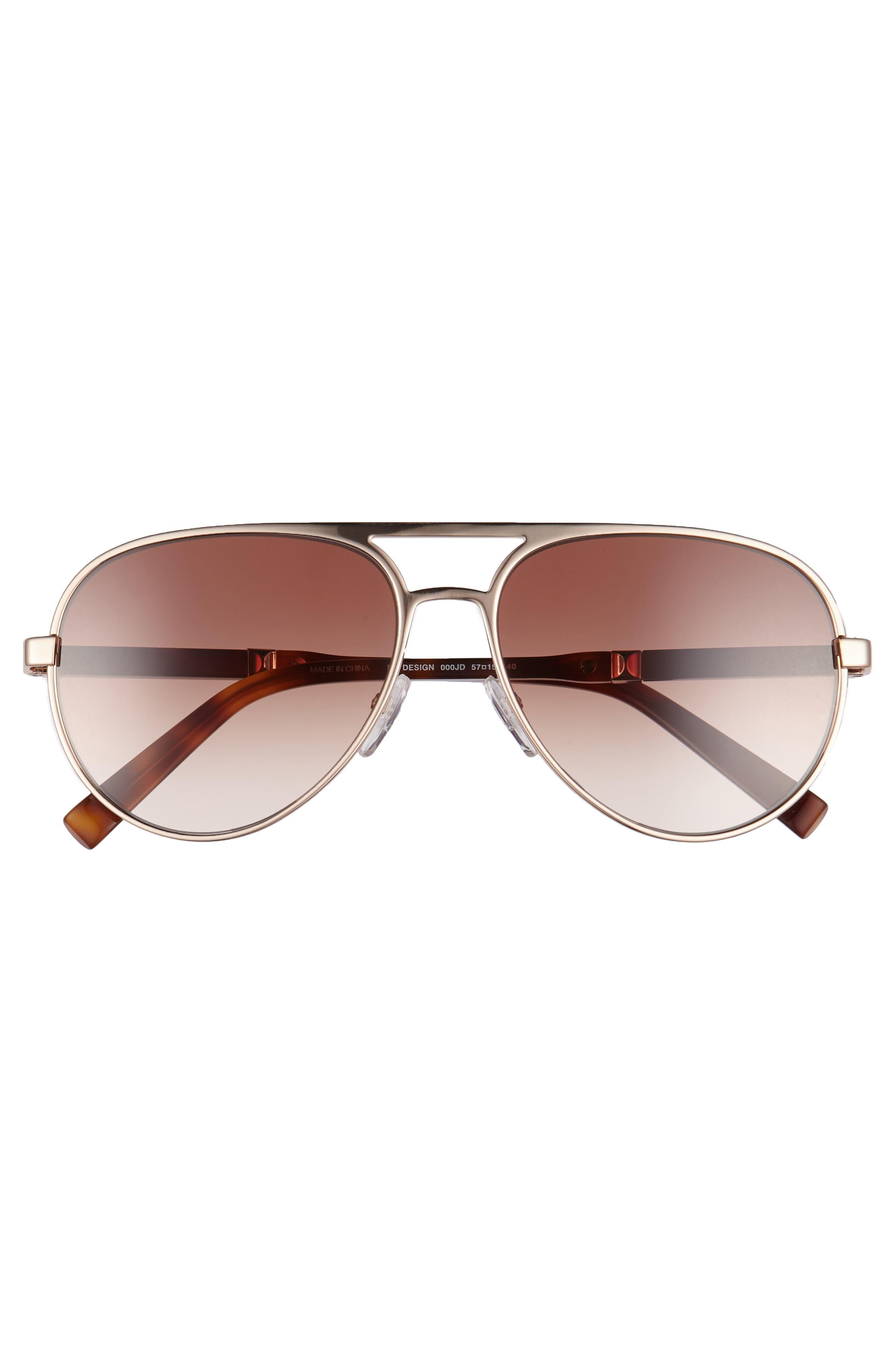 Desigs 57mm Gradient Aviator Sunglasses,                             Alternate thumbnail 3, color,                             710