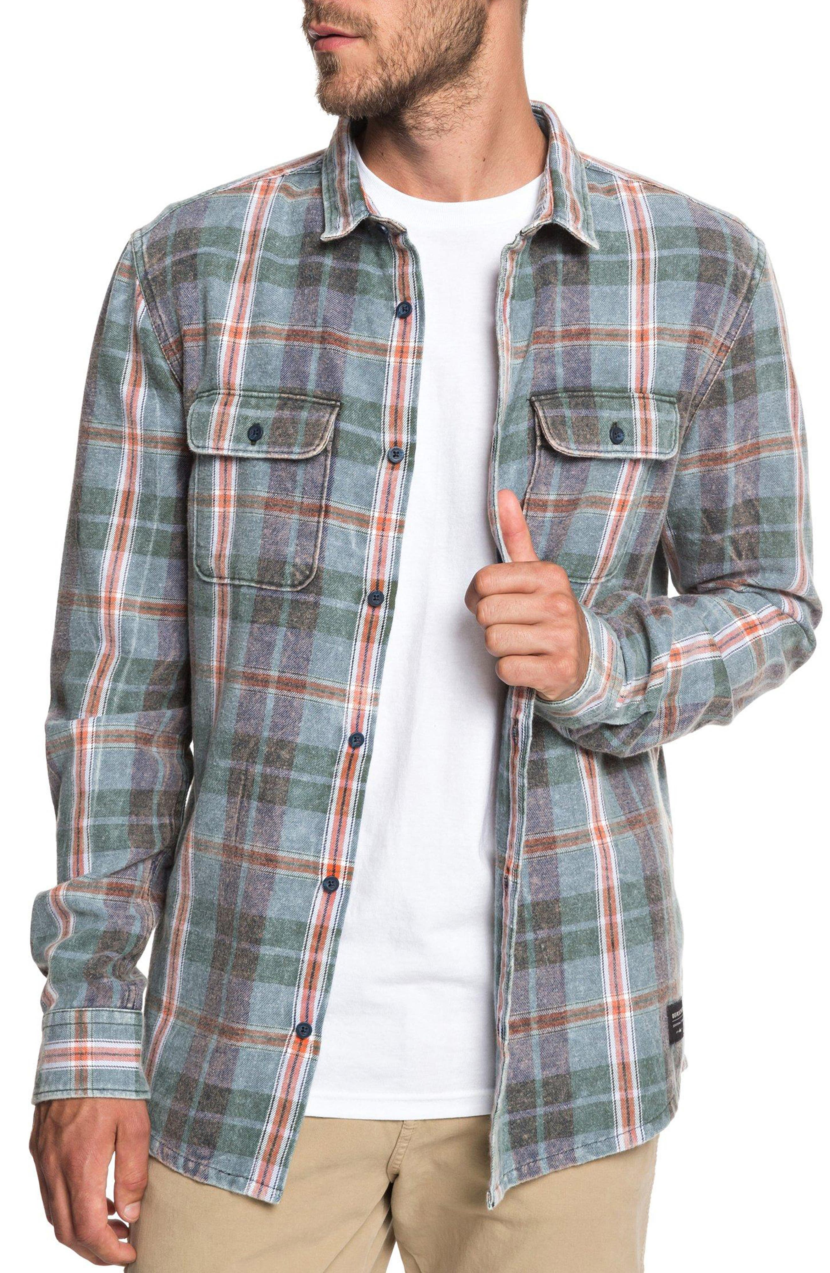 Super Tang Flannel Shirt,                             Alternate thumbnail 7, color,                             STONE WASH TANG