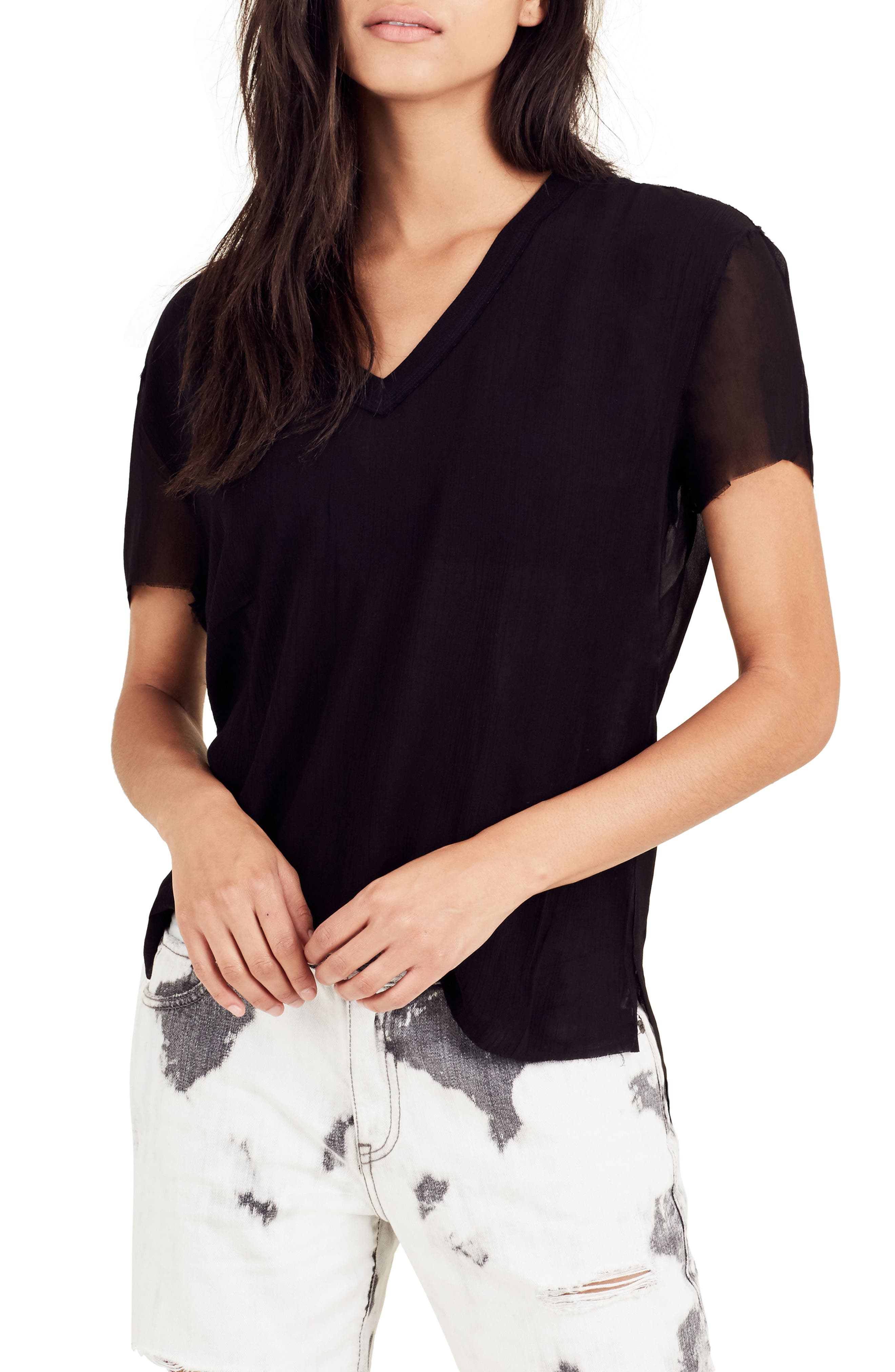 TRUE RELIGION BRAND JEANS Georgette Tee, Main, color, 001