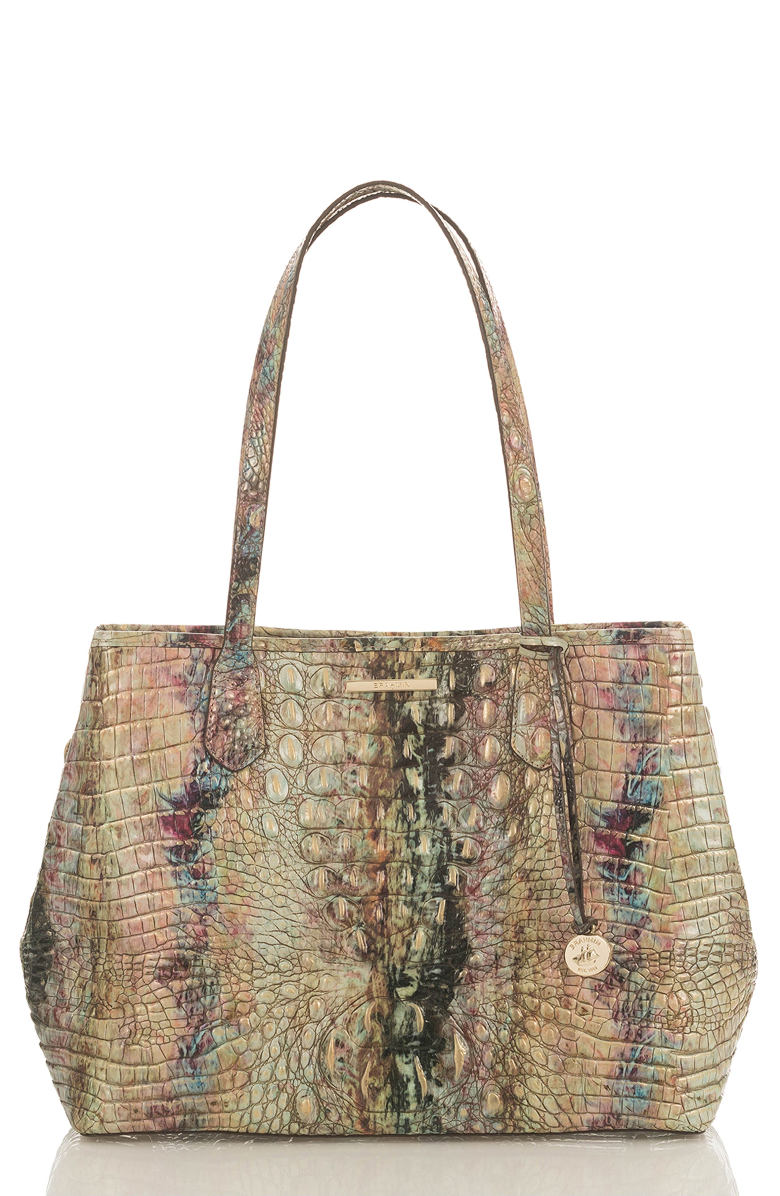Julian Croc Embossed Leather Tote,                         Main,                         color, 202