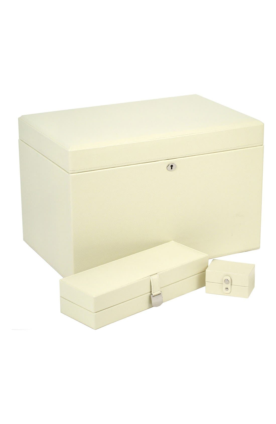 London Large Jewelry Box,                         Main,                         color, CREAM