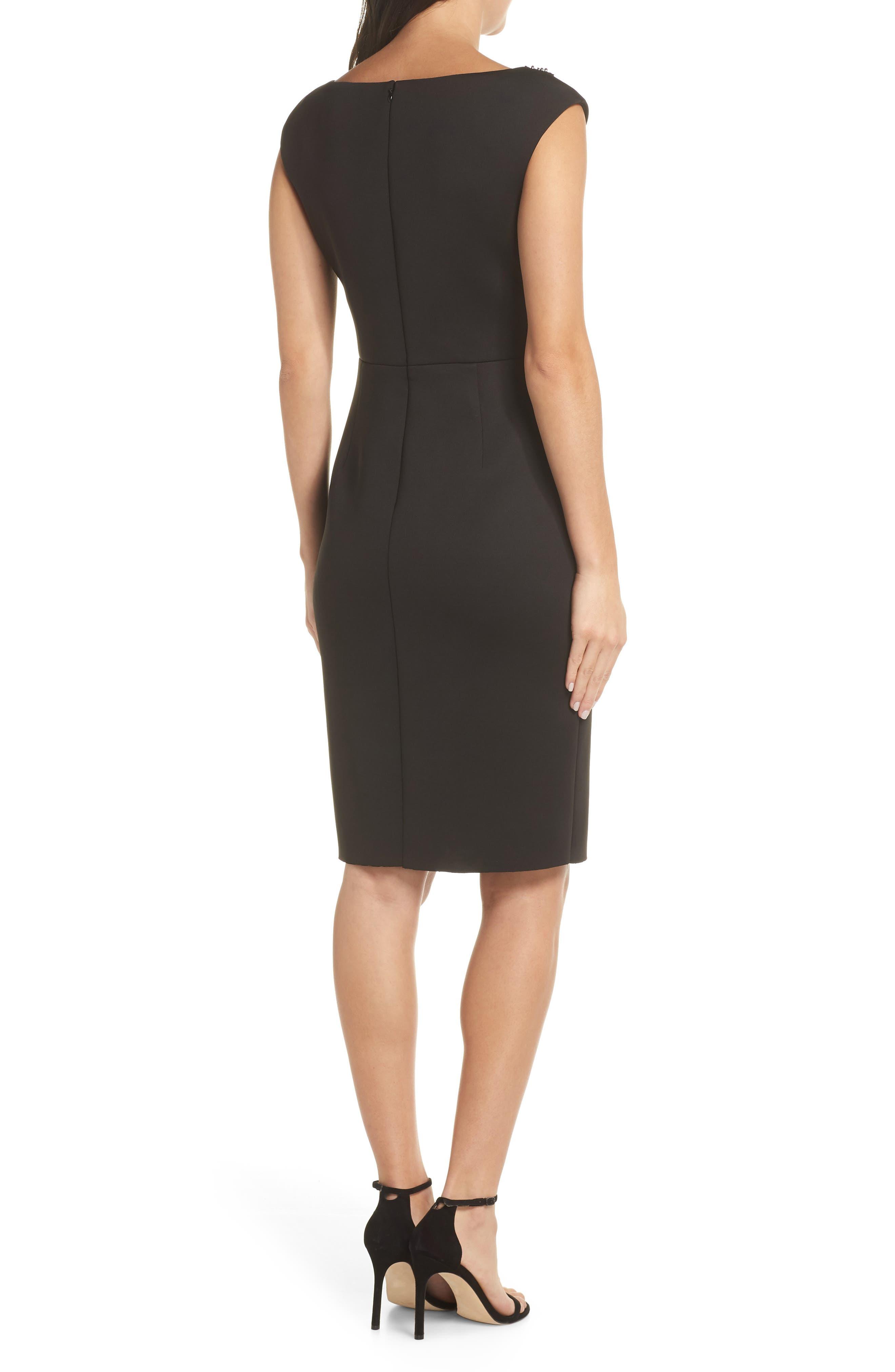 Sequin Swath Sheath Dress,                             Alternate thumbnail 2, color,                             BLACK