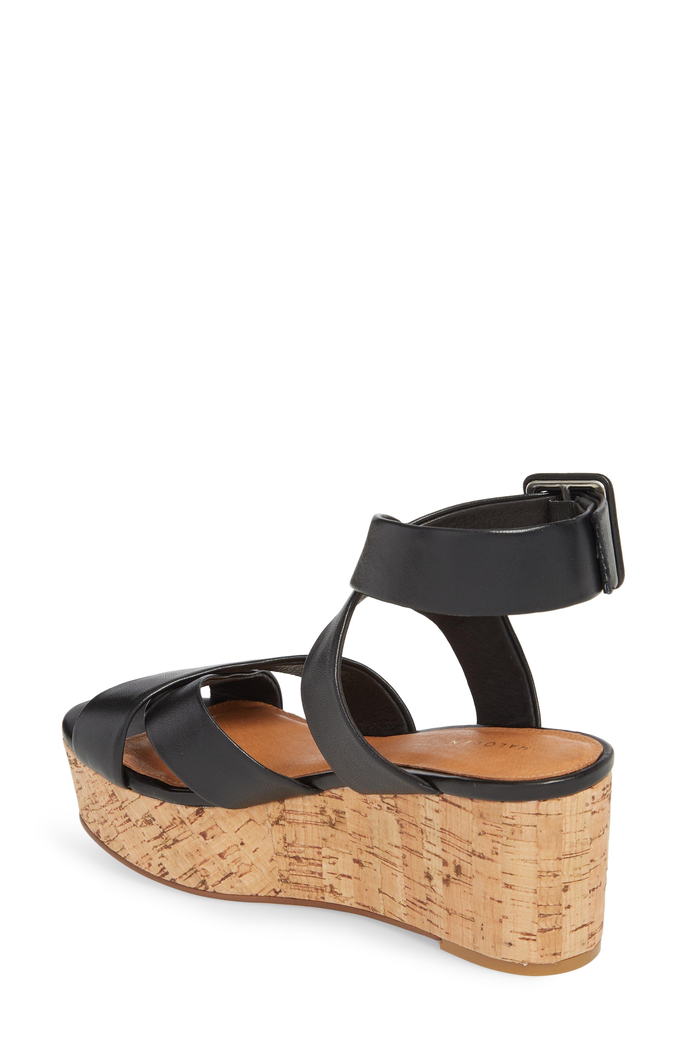 Evie Platform Wedge Sandal,                             Alternate thumbnail 3, color,