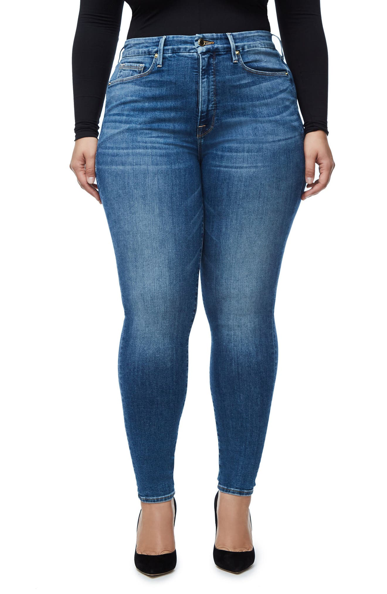 Good Legs High Waist Skinny Jeans (Blue 107),                             Alternate thumbnail 2, color,                             401