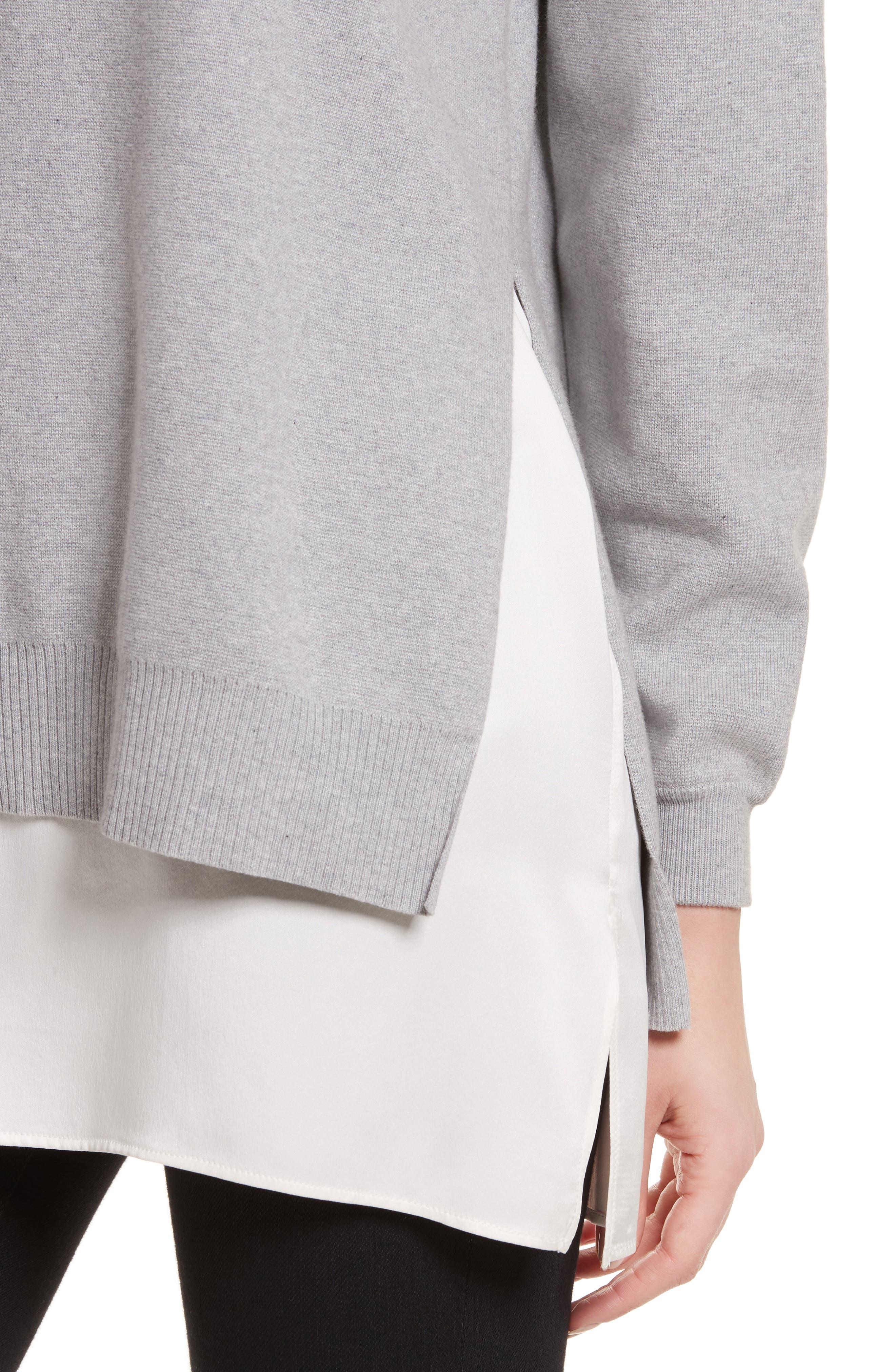 Eldridge Side Slit Undershirt Tunic,                             Alternate thumbnail 4, color,