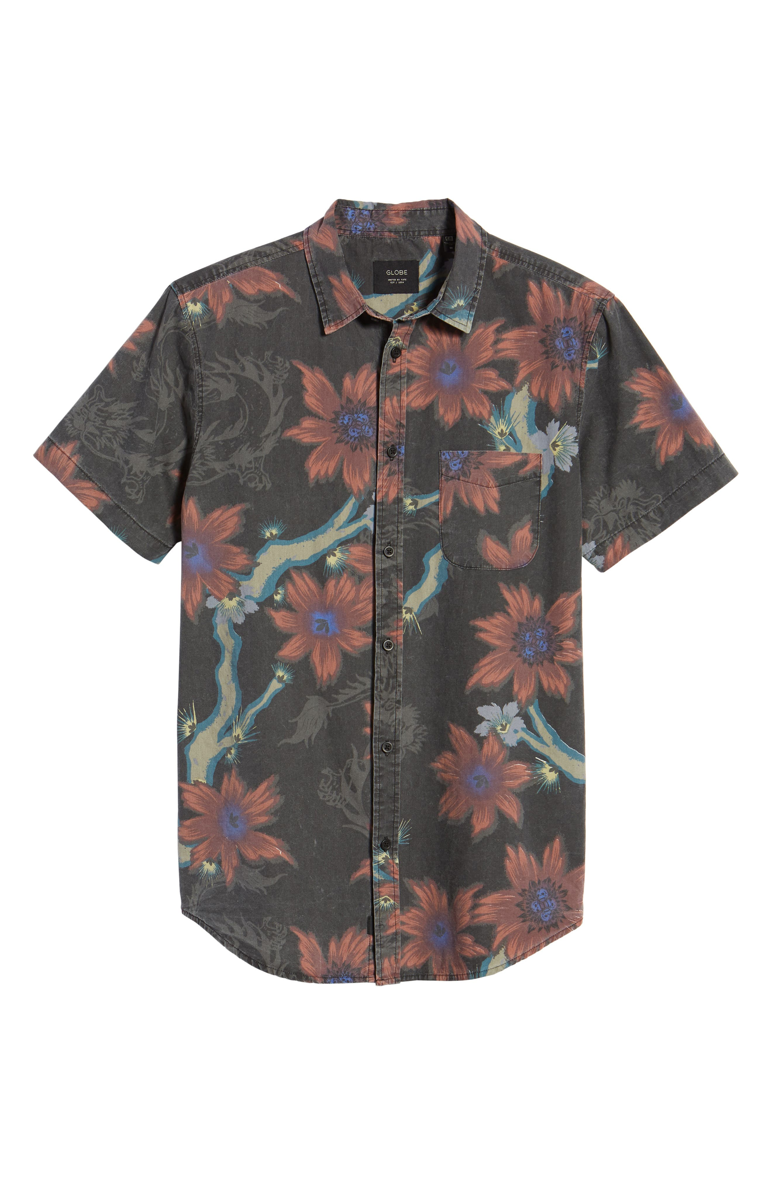Vault Woven Shirt,                             Alternate thumbnail 6, color,                             VINTAGE BLACK