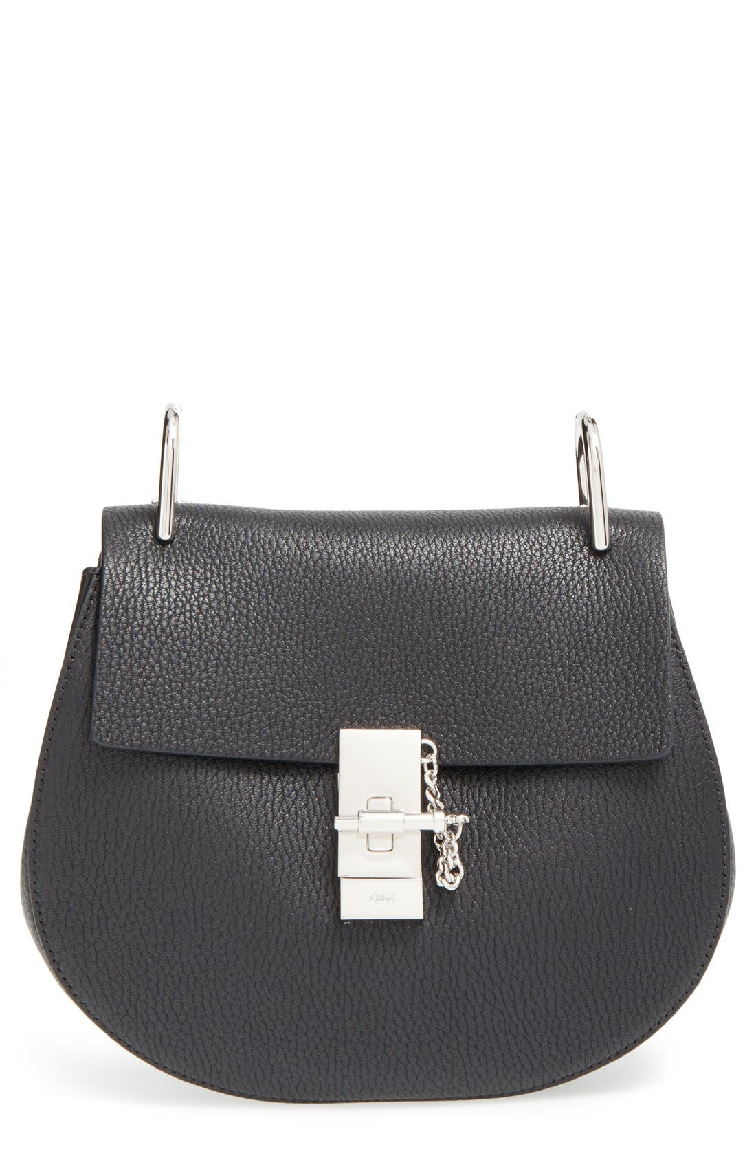 'Small Drew' Leather Shoulder Bag,                         Main,                         color, 001