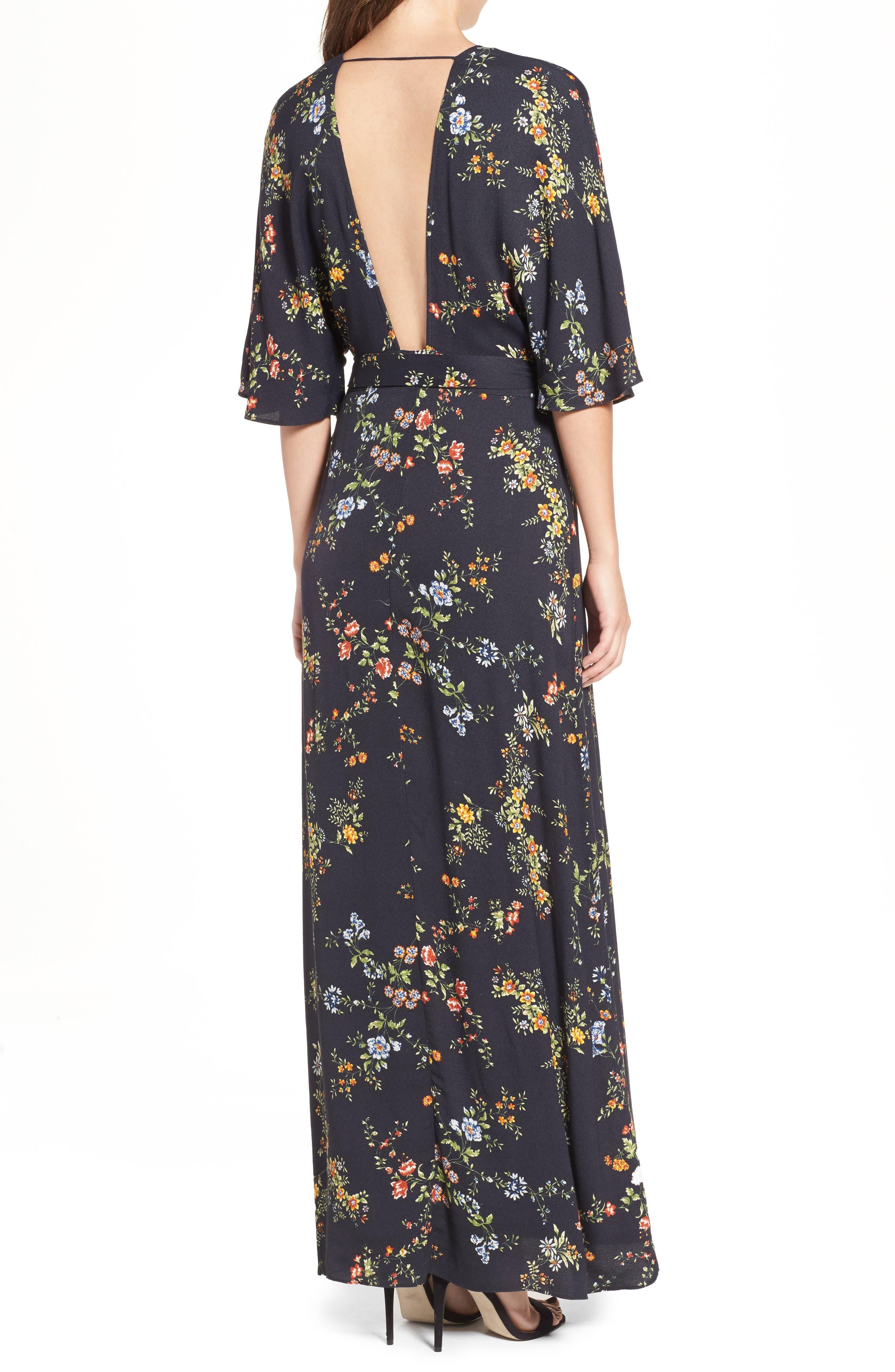 AFRM,                             Monroe Wrap Dress,                             Alternate thumbnail 2, color,                             001