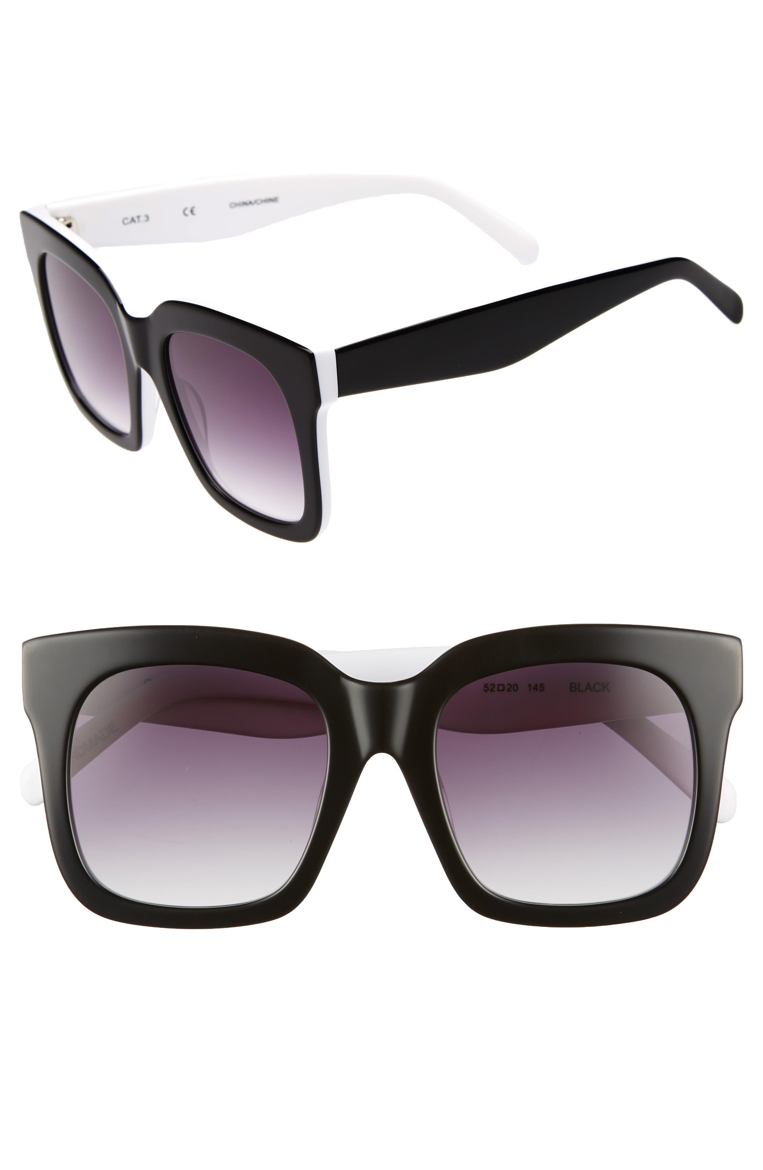 Coco 52mm Sunglasses,                             Main thumbnail 1, color,                             BLACK