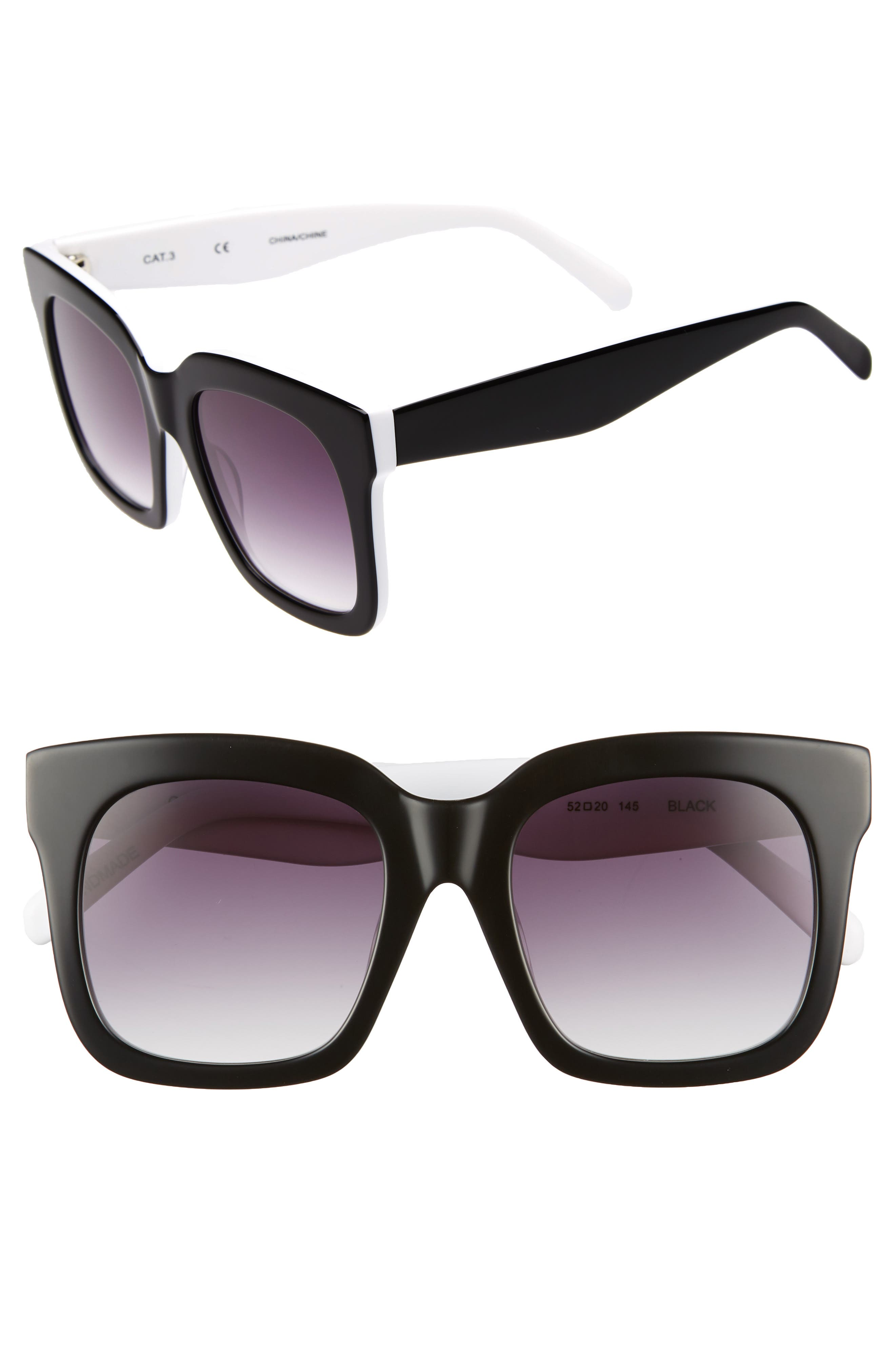 Coco 52mm Sunglasses,                         Main,                         color, BLACK
