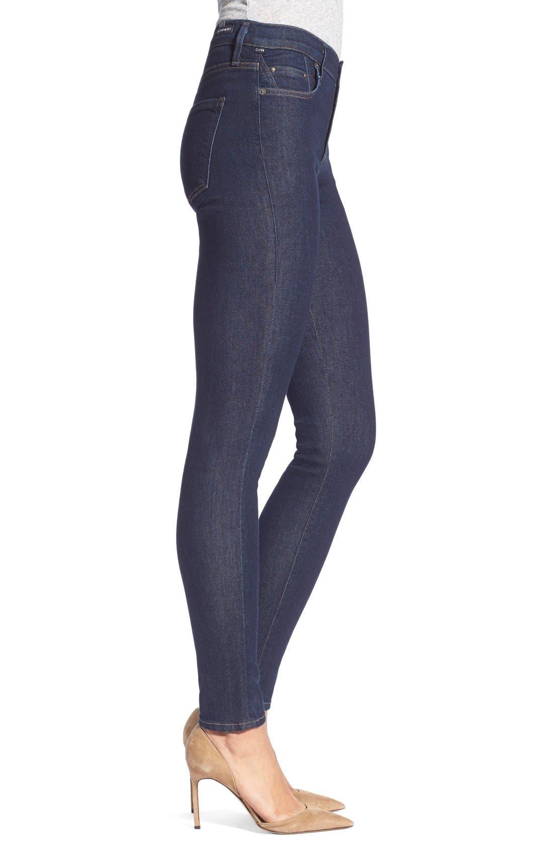 'Sculpt - Rocket' High Rise Skinny Jeans,                             Alternate thumbnail 2, color,                             406