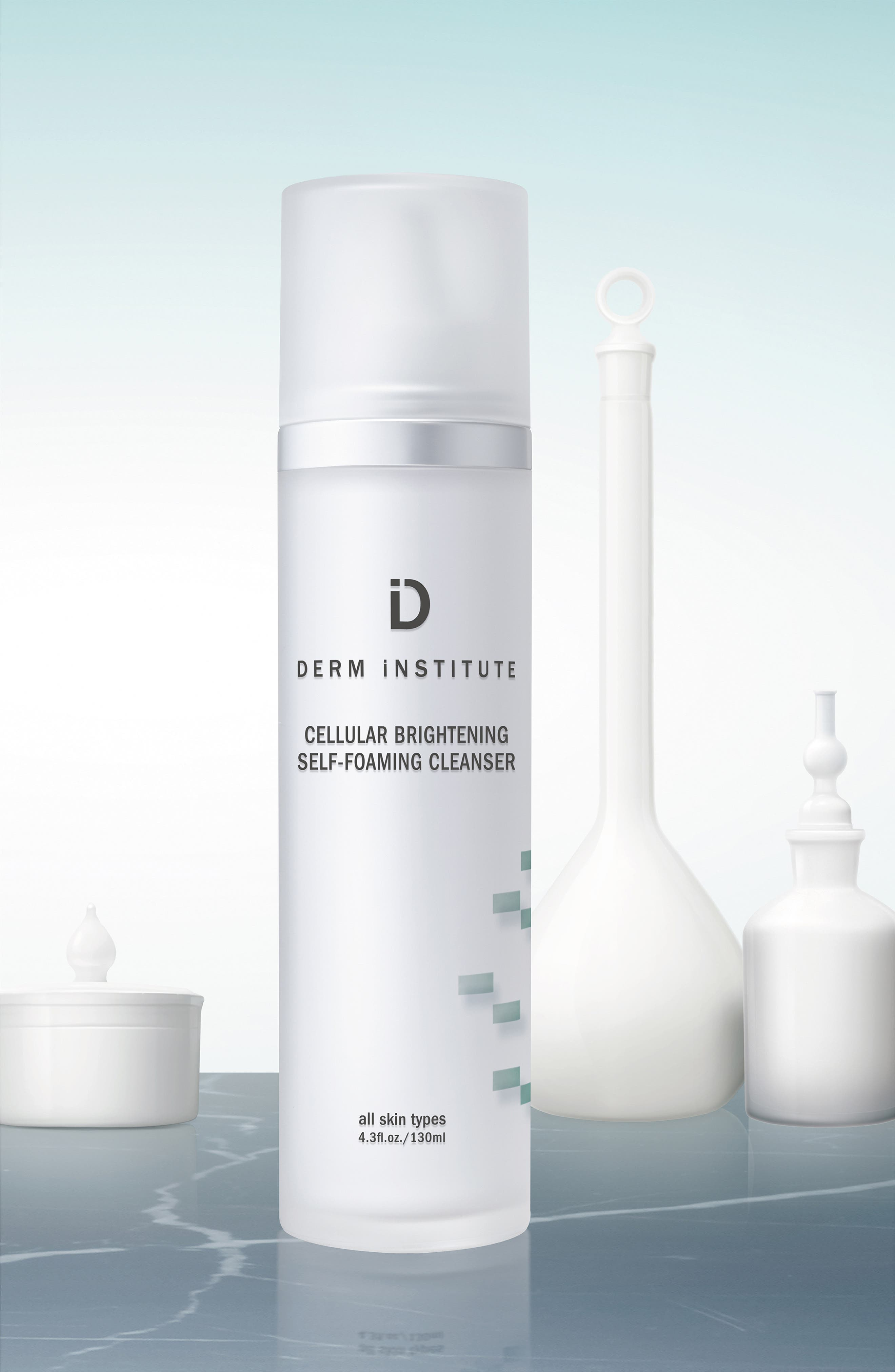 SPACE.NK.apothecary Derm Institute Cellular Brightening Self-Foaming Cleanser,                             Alternate thumbnail 4, color,                             000