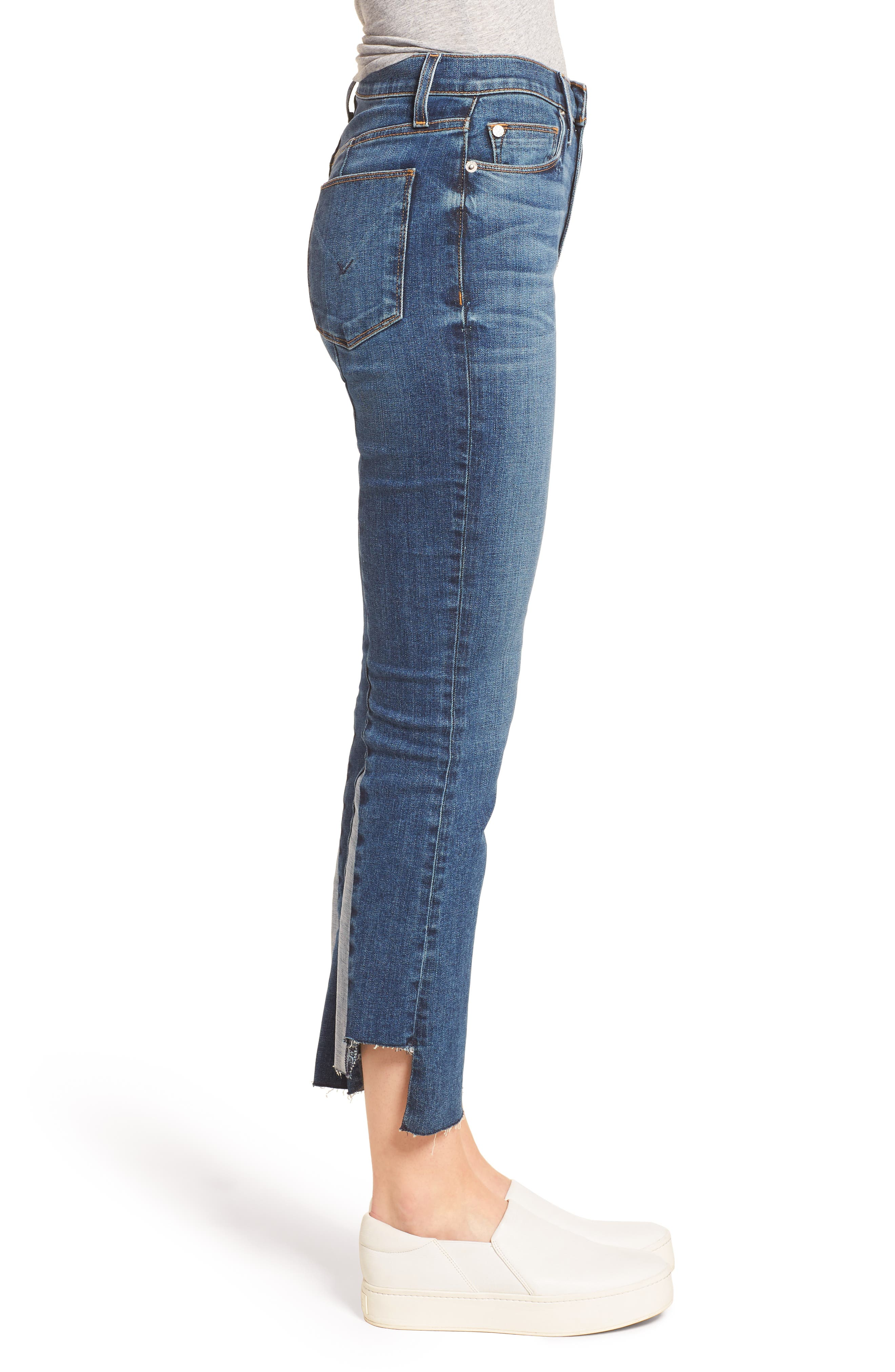 Holly High Waist Crop Flare Jeans,                             Alternate thumbnail 3, color,                             LOSS CONTROL