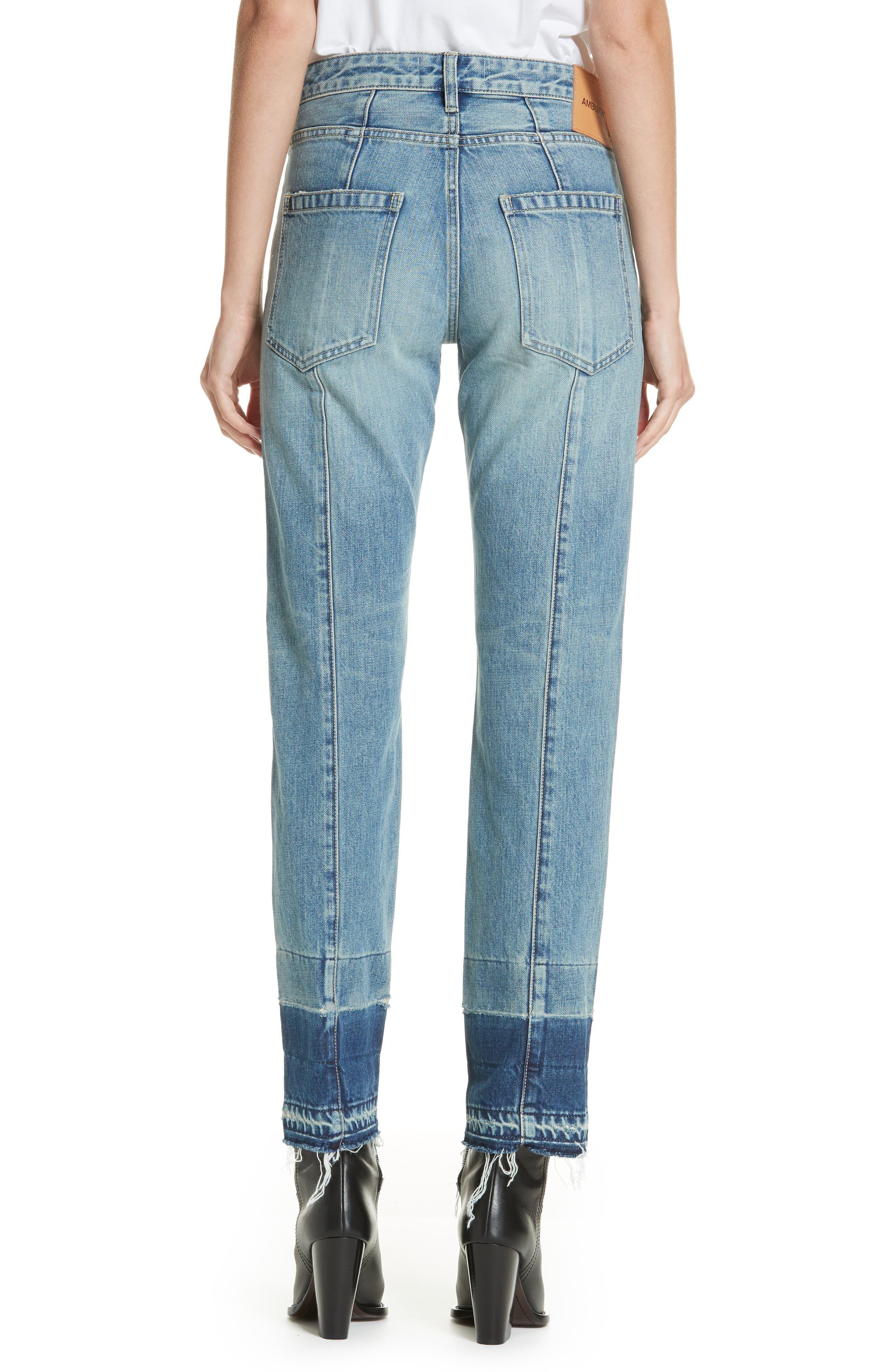 Patch Jeans,                             Alternate thumbnail 2, color,                             BLUE