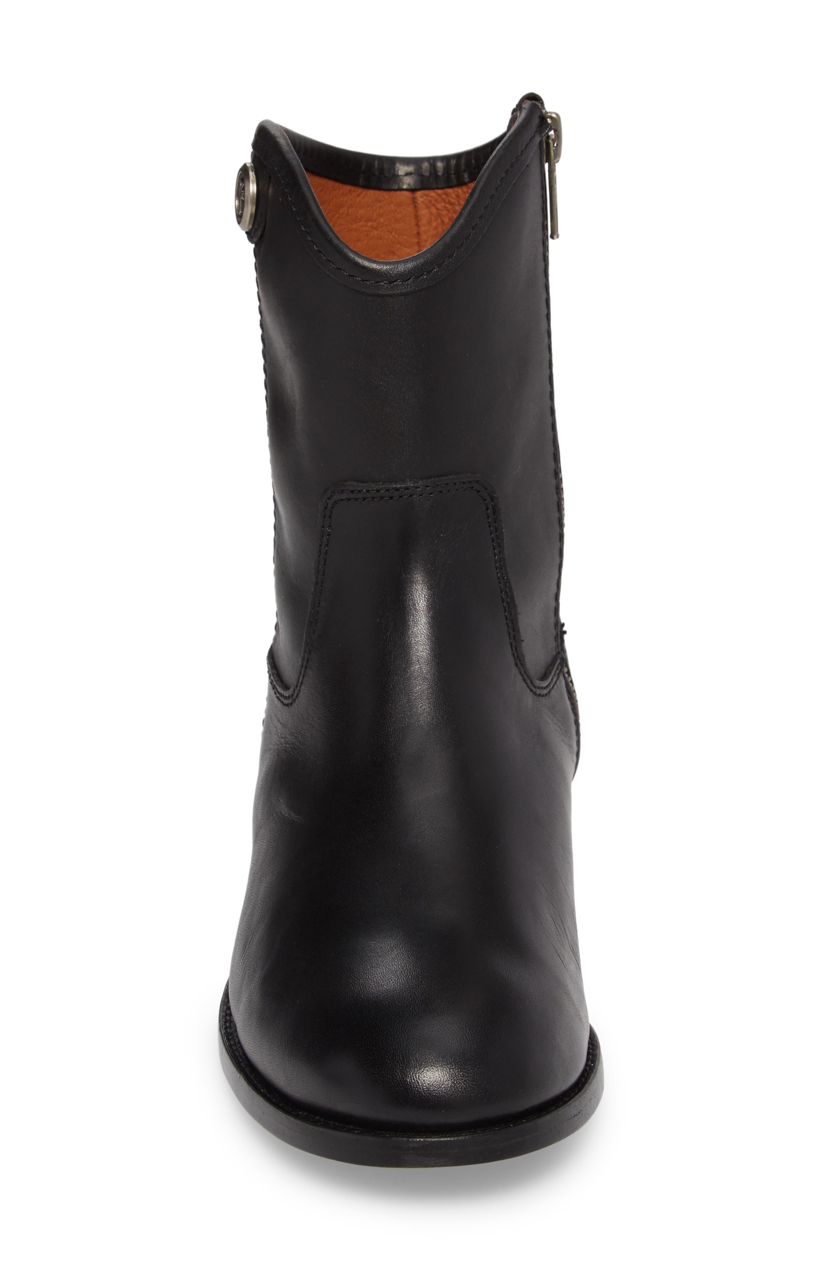 Melissa Short 2 Boot,                             Alternate thumbnail 4, color,                             BLACK LEATHER