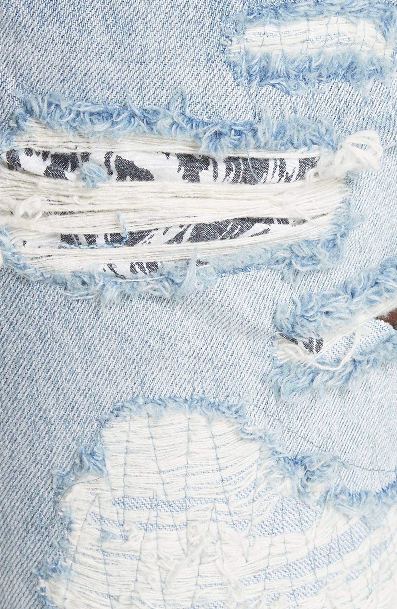 Chitch Tropo Trash Jeans,                             Alternate thumbnail 5, color,                             DENIM