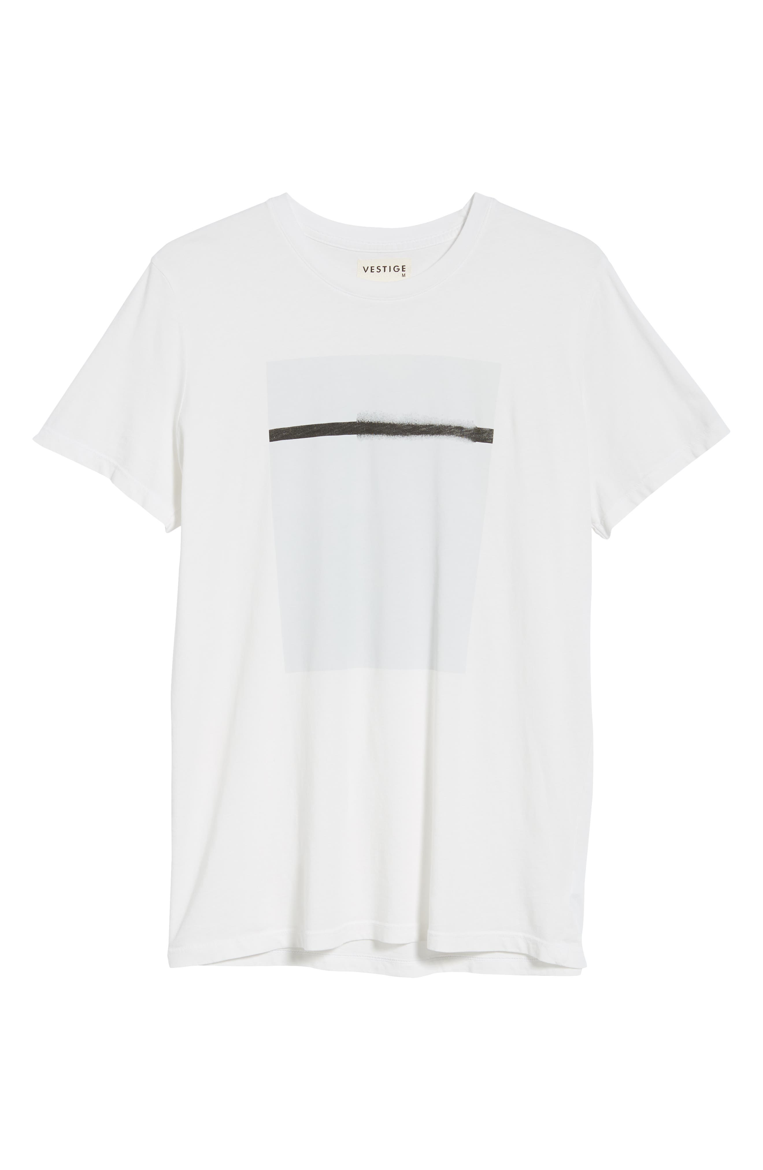 Off White Graphic T-Shirt,                             Alternate thumbnail 6, color,                             WHITE