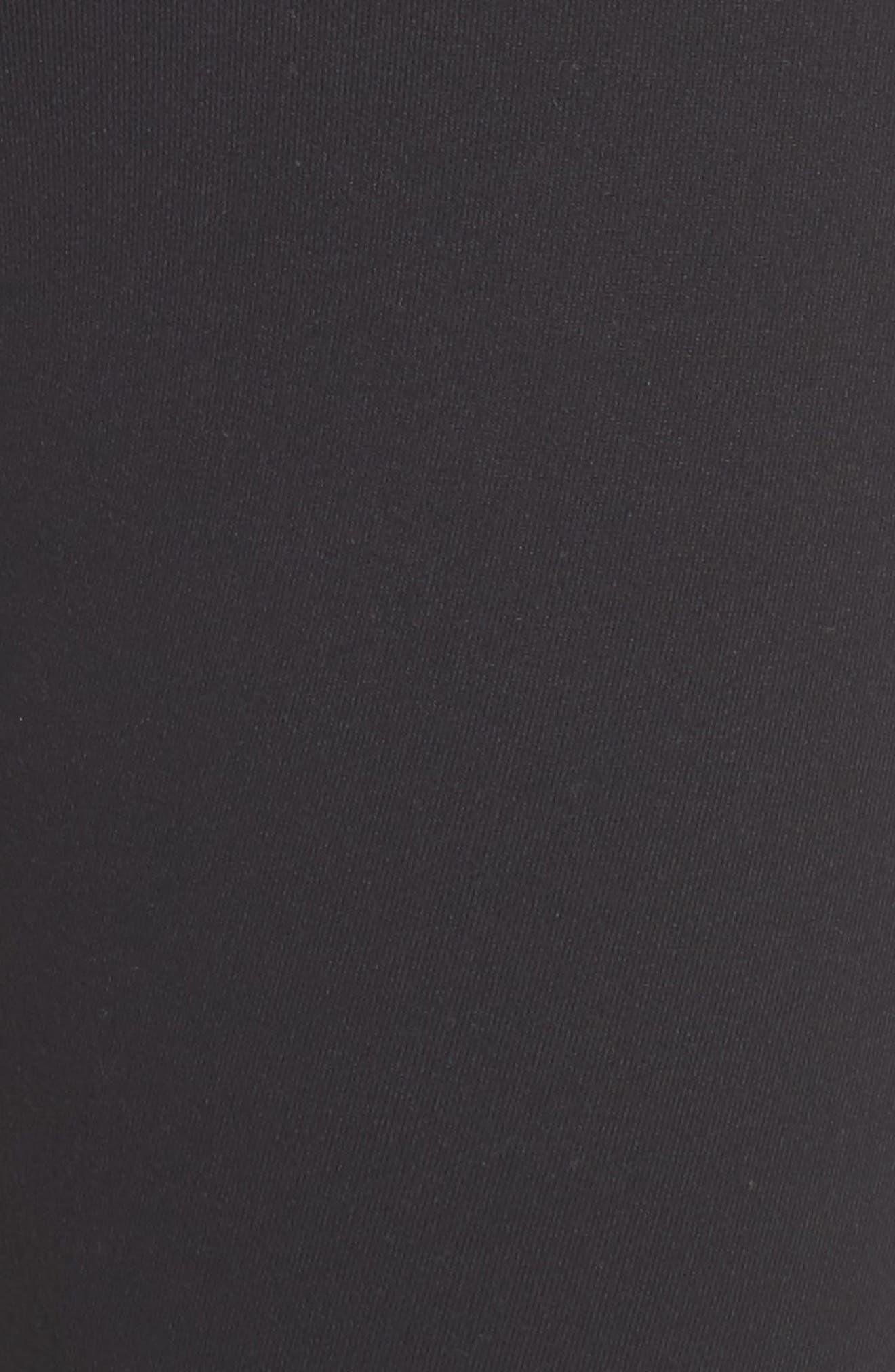 Back Track High Waist Midi Leggings,                             Alternate thumbnail 6, color,                             001