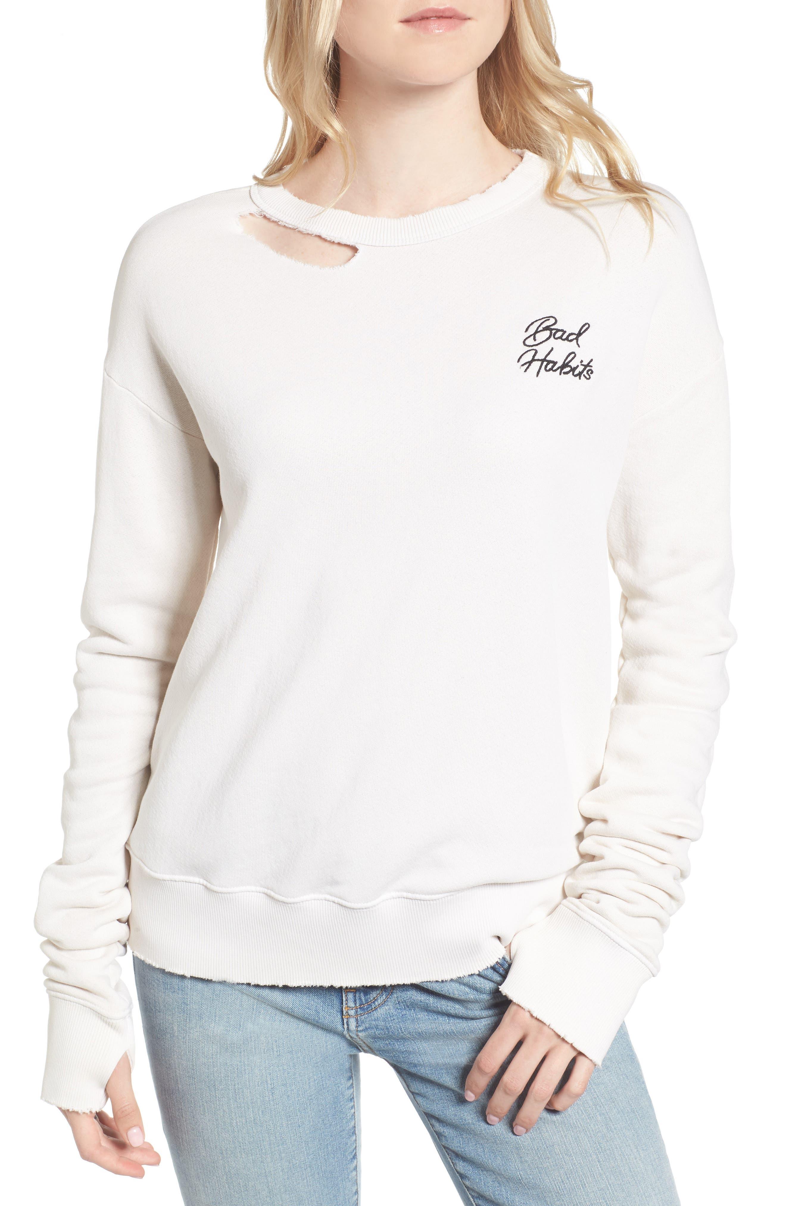 Vernon Bad Habits Distressed Sweatshirt,                         Main,                         color,