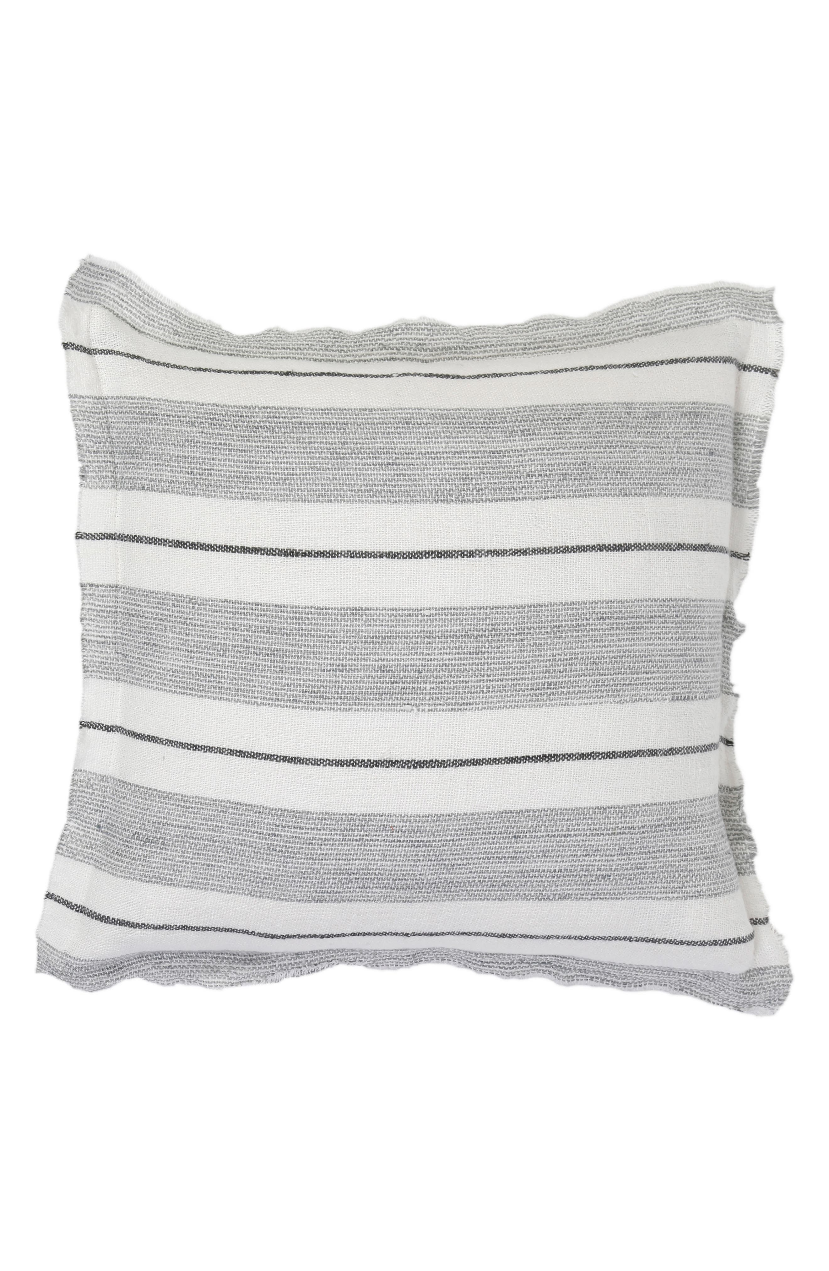 POM POM AT HOME,                             Laguna Accent Pillow,                             Main thumbnail 1, color,                             GREY/ CHARCOAL