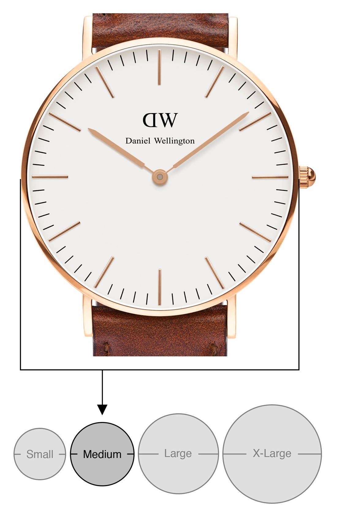 'Classic St. Mawes' Leather Strap Watch, 36mm,                             Alternate thumbnail 5, color,                             200