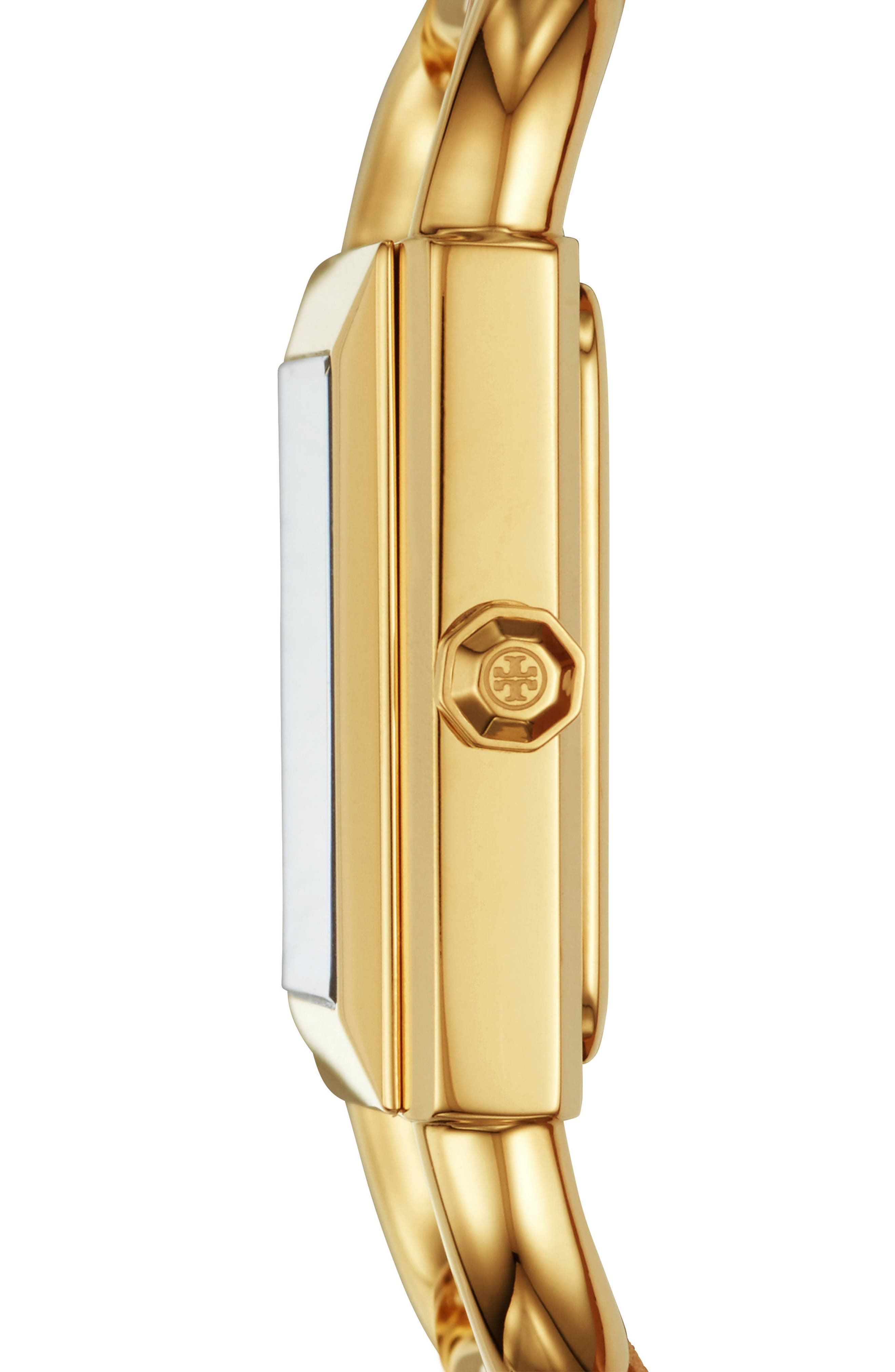 Phipps Mesh Strap Watch, 29mm x 41mm,                             Alternate thumbnail 2, color,                             GOLD/ IVORY/ GOLD