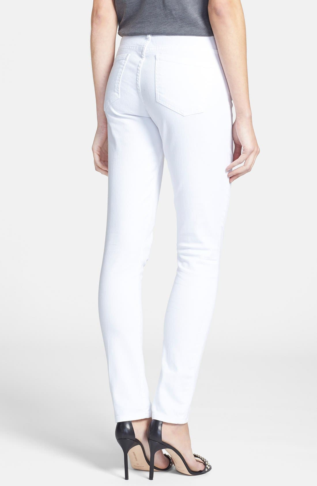 'Arielle' Skinny Jeans,                             Alternate thumbnail 2, color,                             100