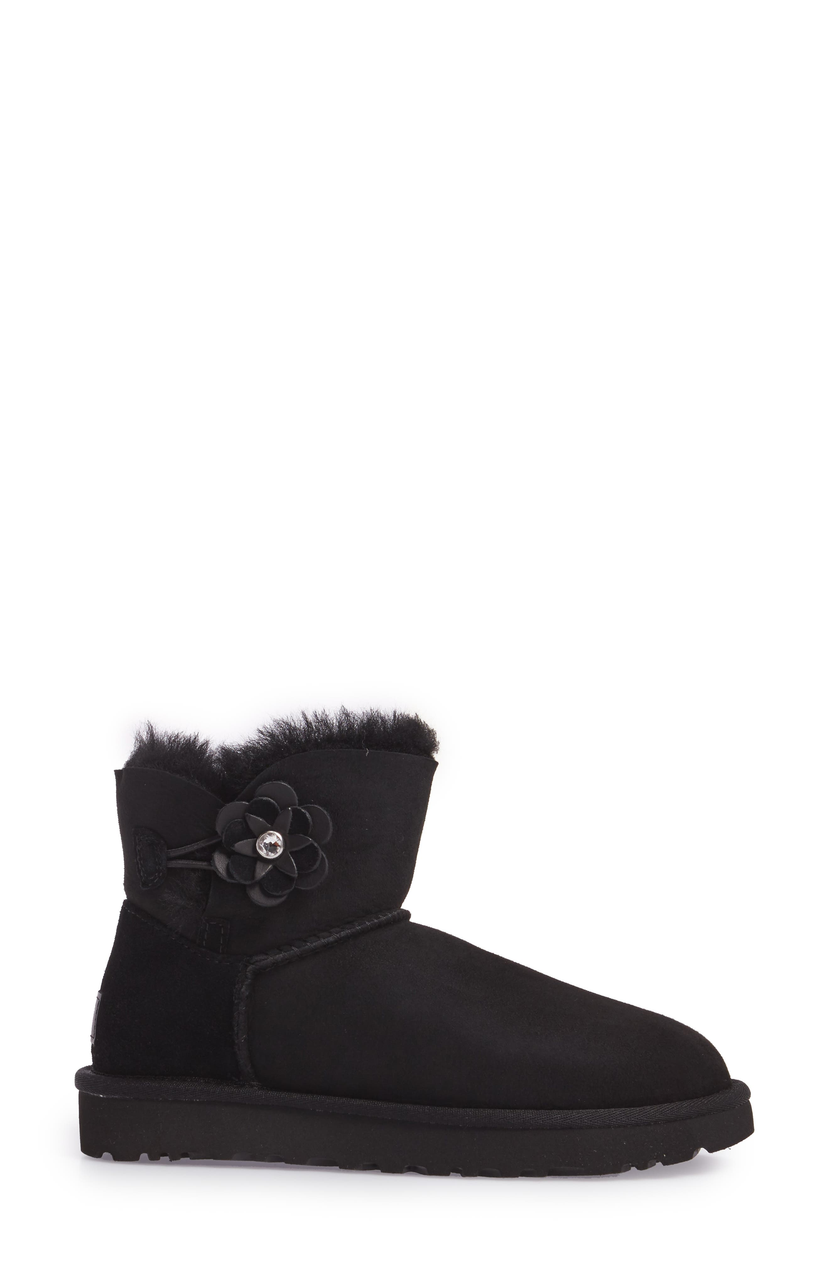 Bailey Petal Genuine Shearling Lined Mini Boot,                             Alternate thumbnail 7, color,