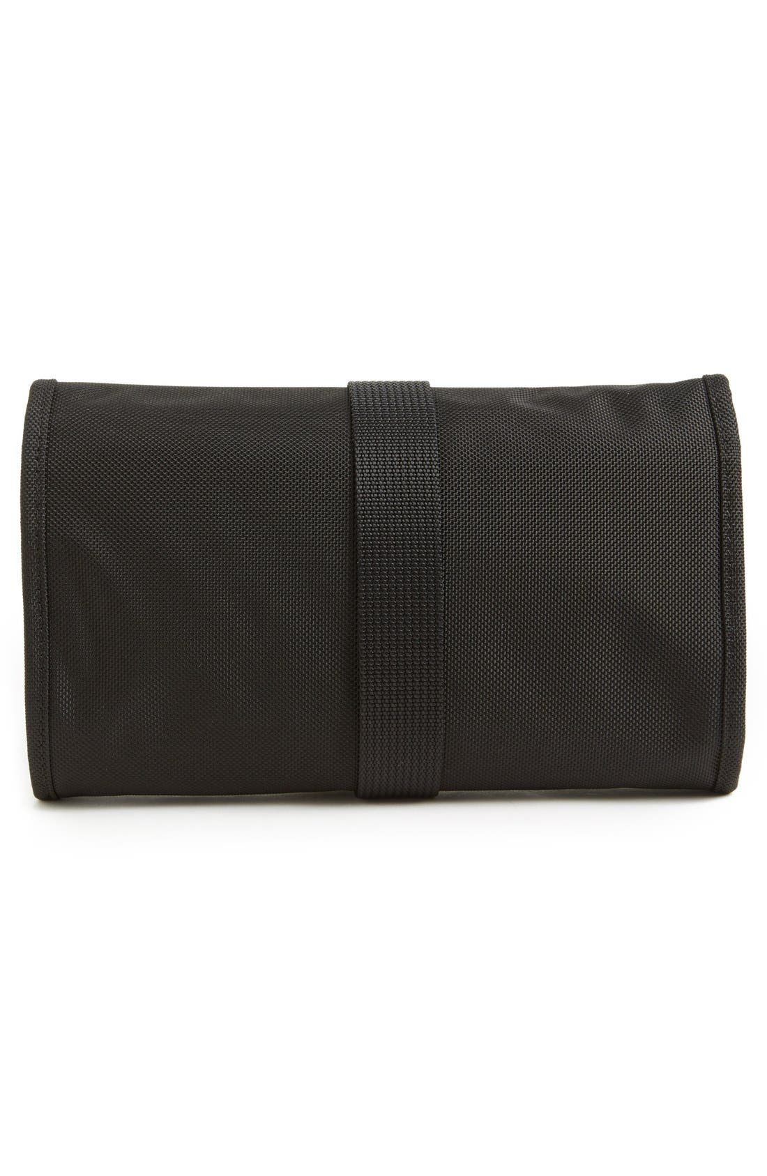 'Baseline' Compact Trifold Toiletry Kit,                             Alternate thumbnail 3, color,                             BLACK