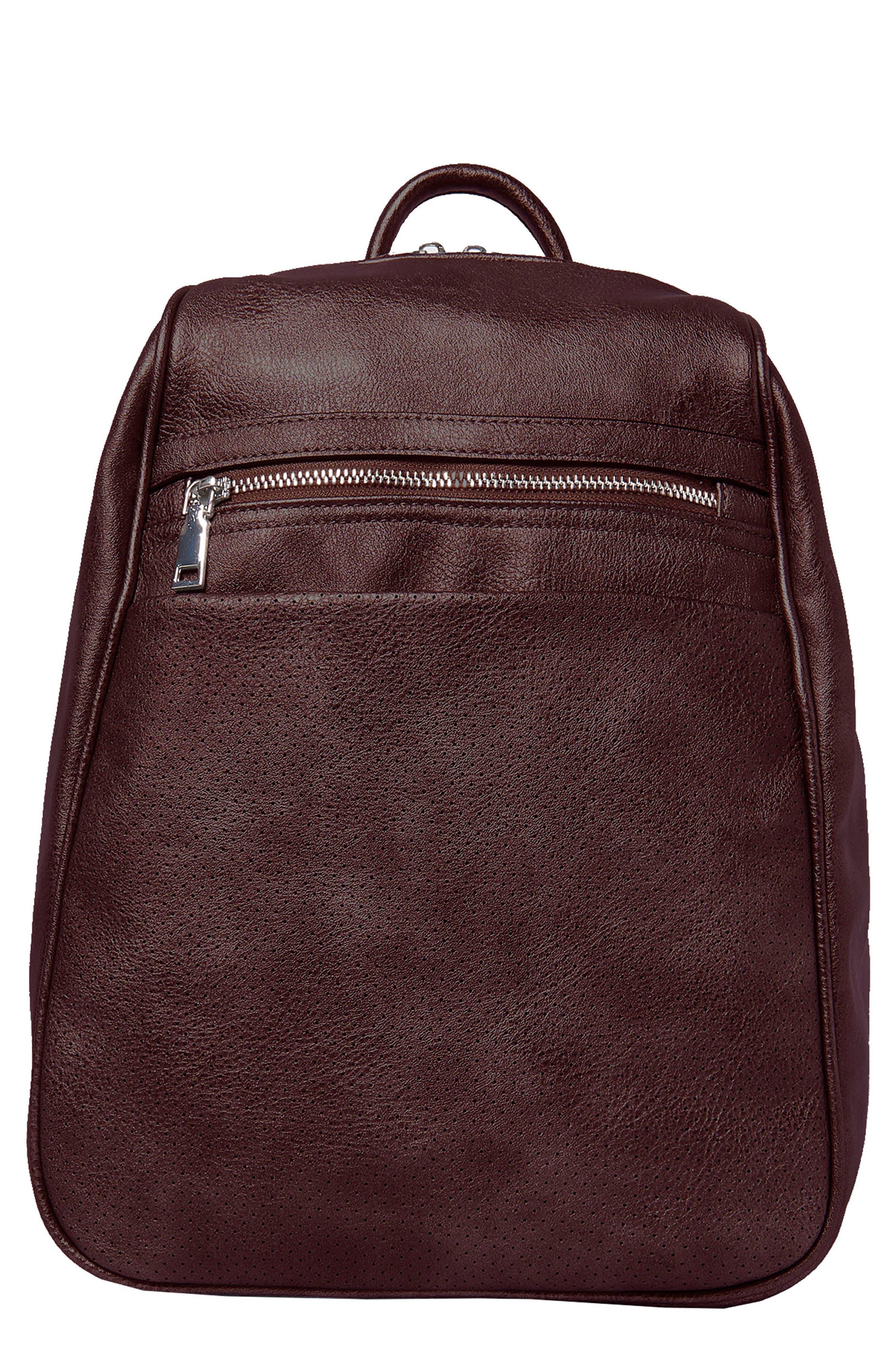 Dream On Vegan Leather Backpack - Burgundy in Berry
