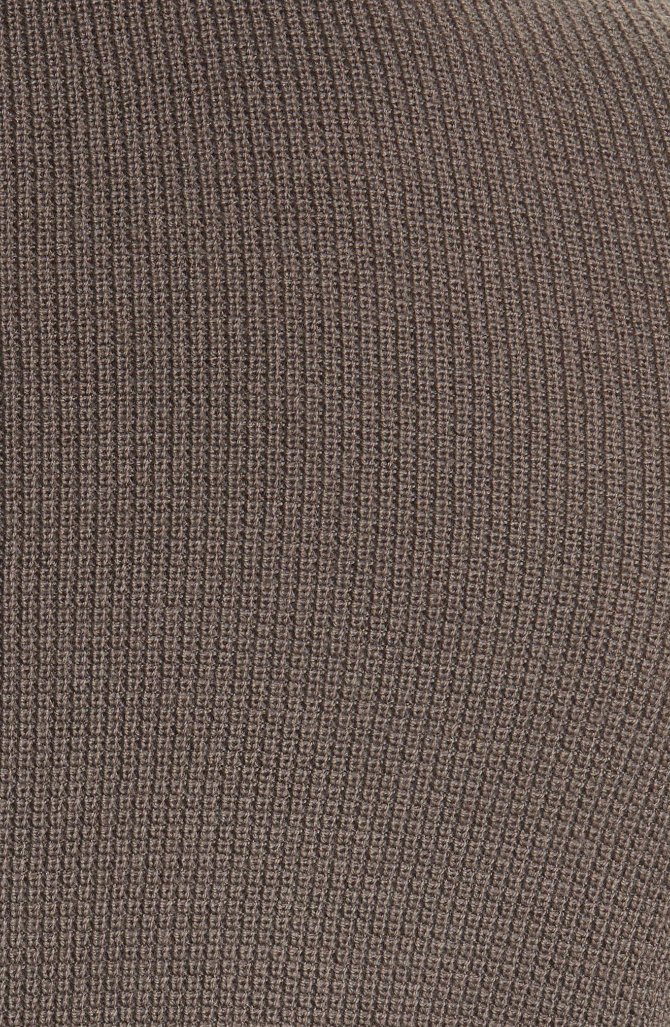 Zack Waffle Knit Wool Henley,                             Alternate thumbnail 5, color,                             200