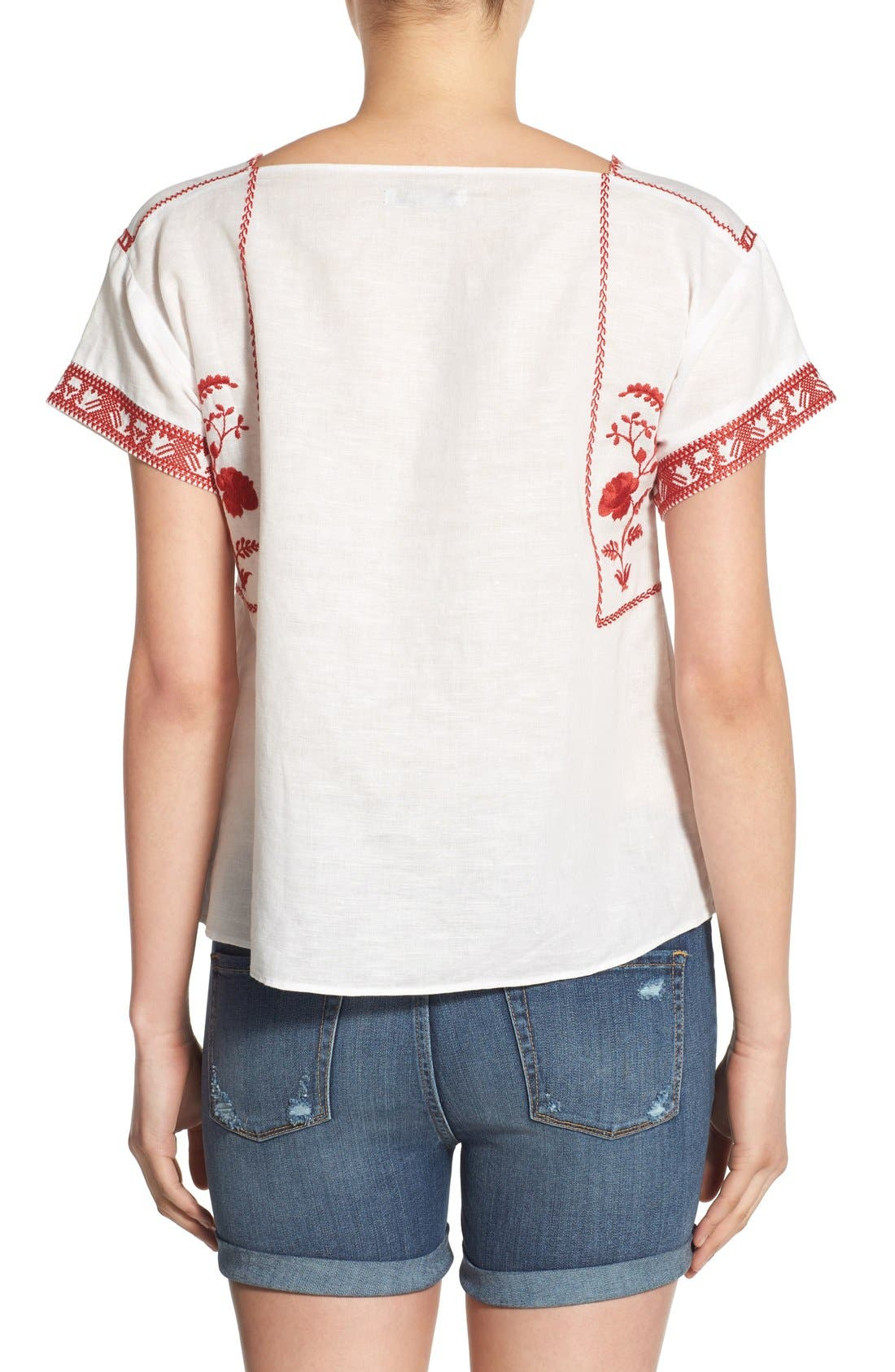 Wildfield Embroidered Top,                             Alternate thumbnail 6, color,