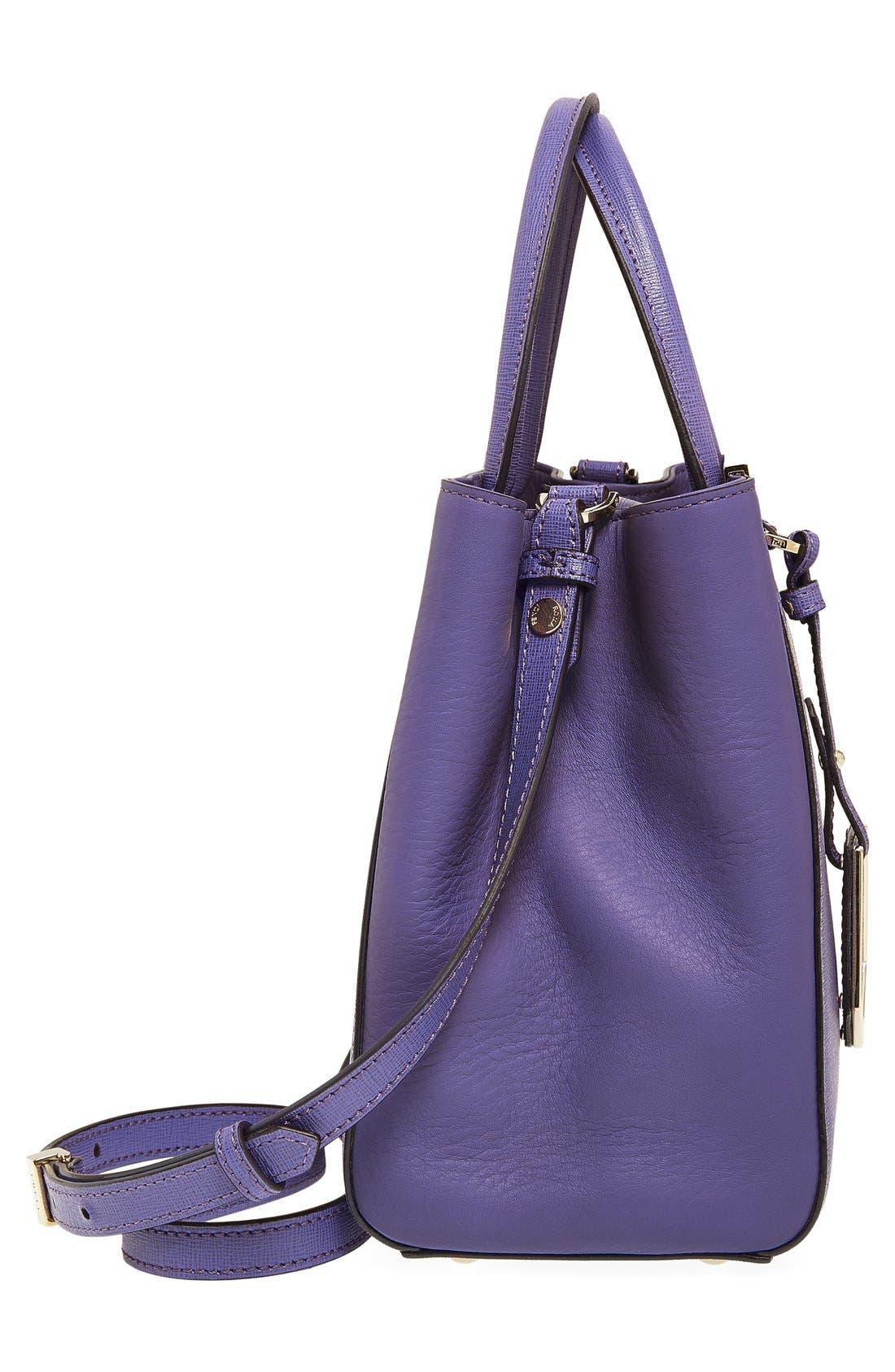 'Petite 2Jours Elite' Leather Shopper,                             Alternate thumbnail 104, color,