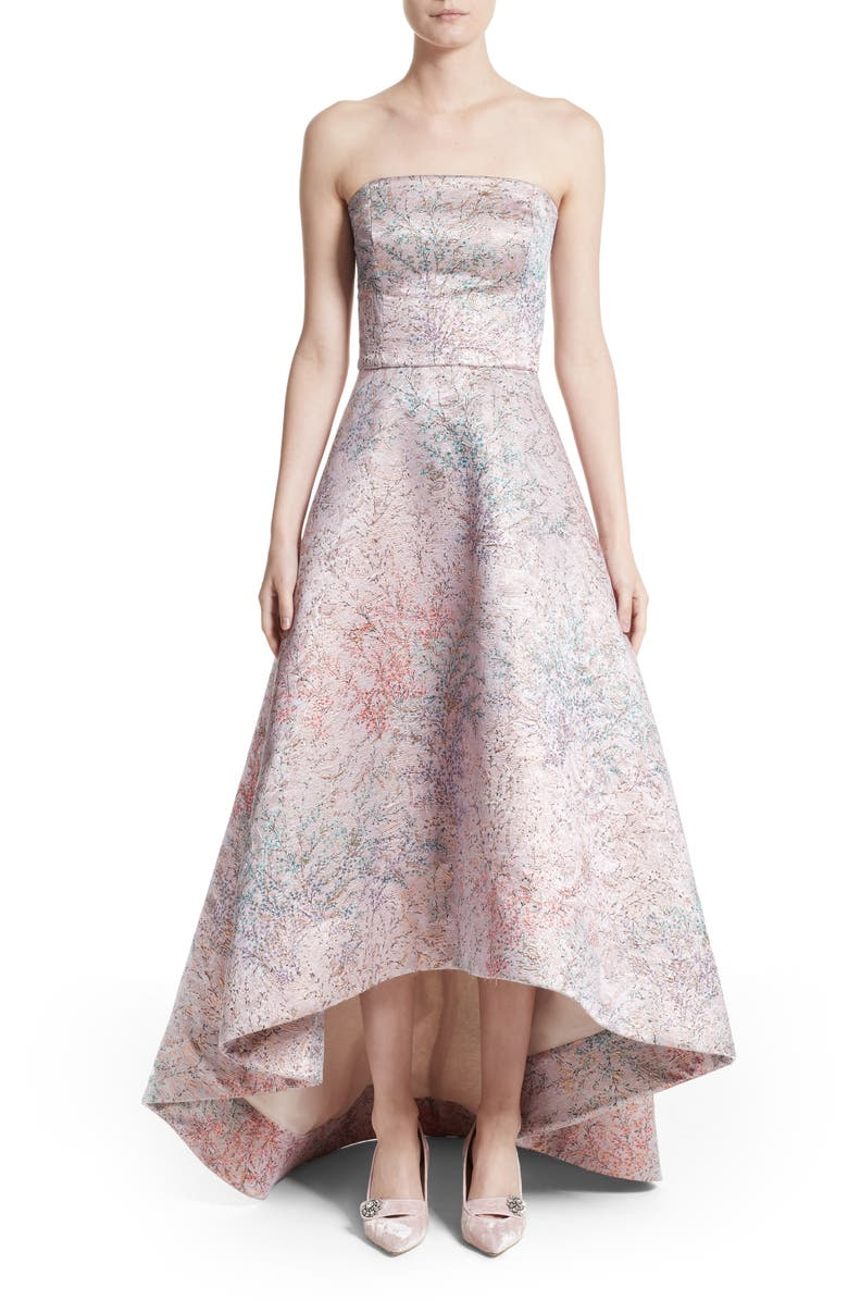 Monique Lhuillier Strapless High/Low Ballgown | Nordstrom