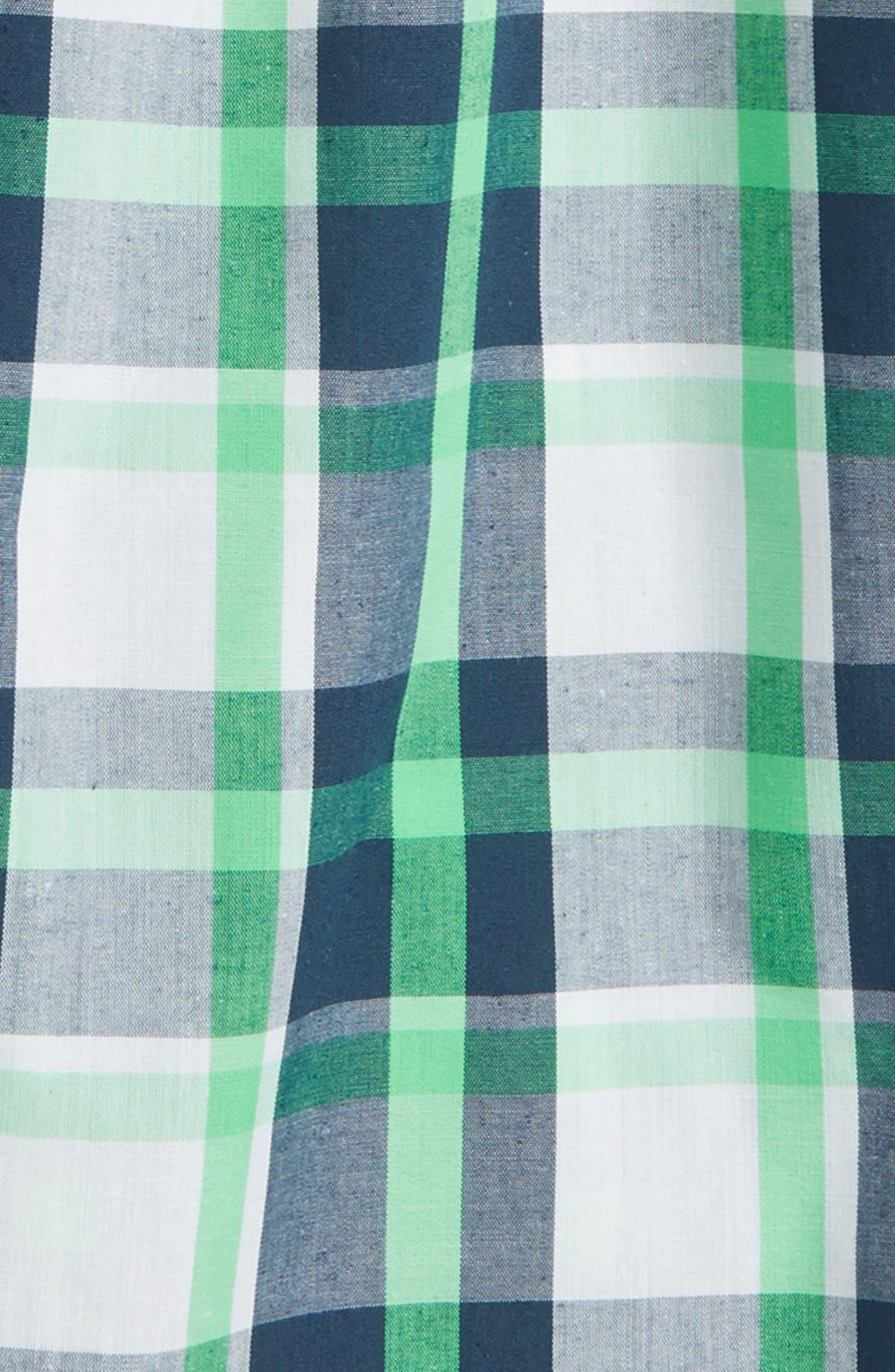 Plaid Sleep Shorts,                             Alternate thumbnail 2, color,                             410