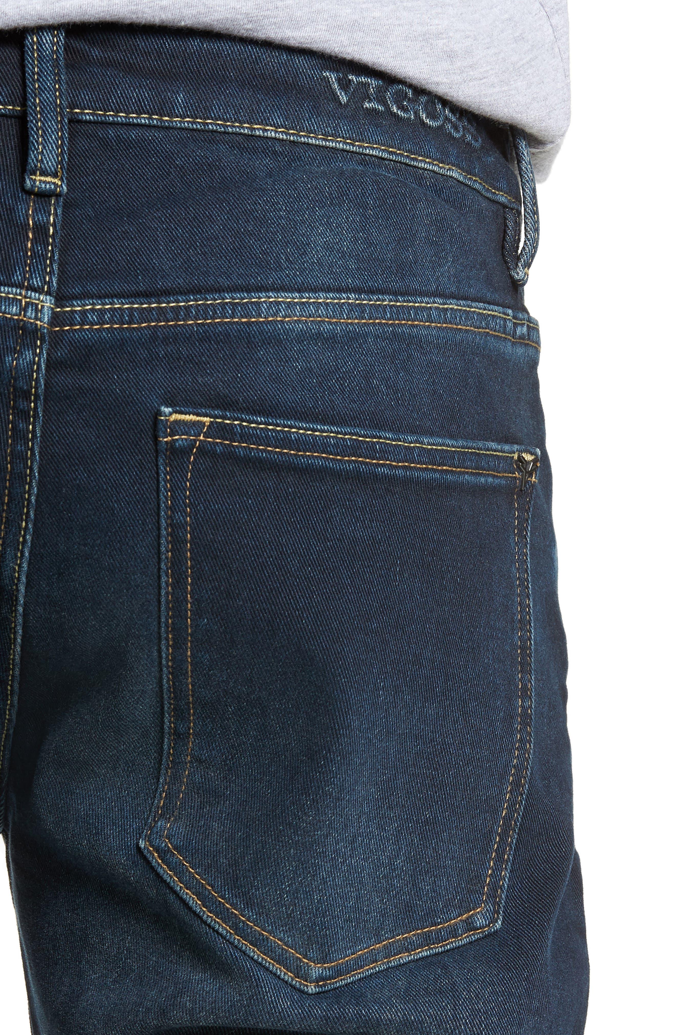 Jude Slim Fit Jeans,                             Alternate thumbnail 4, color,                             DARK 3D WASH
