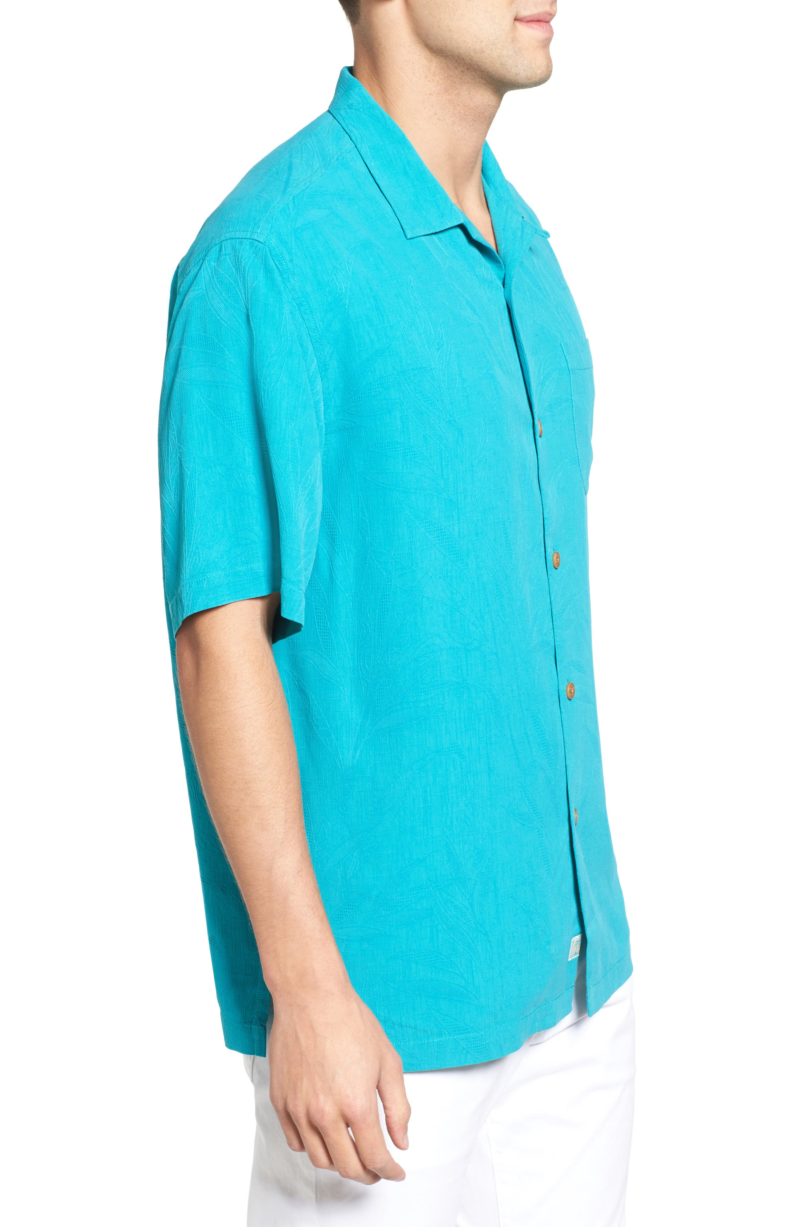 Islander Fronds Silk Camp Shirt,                             Alternate thumbnail 24, color,