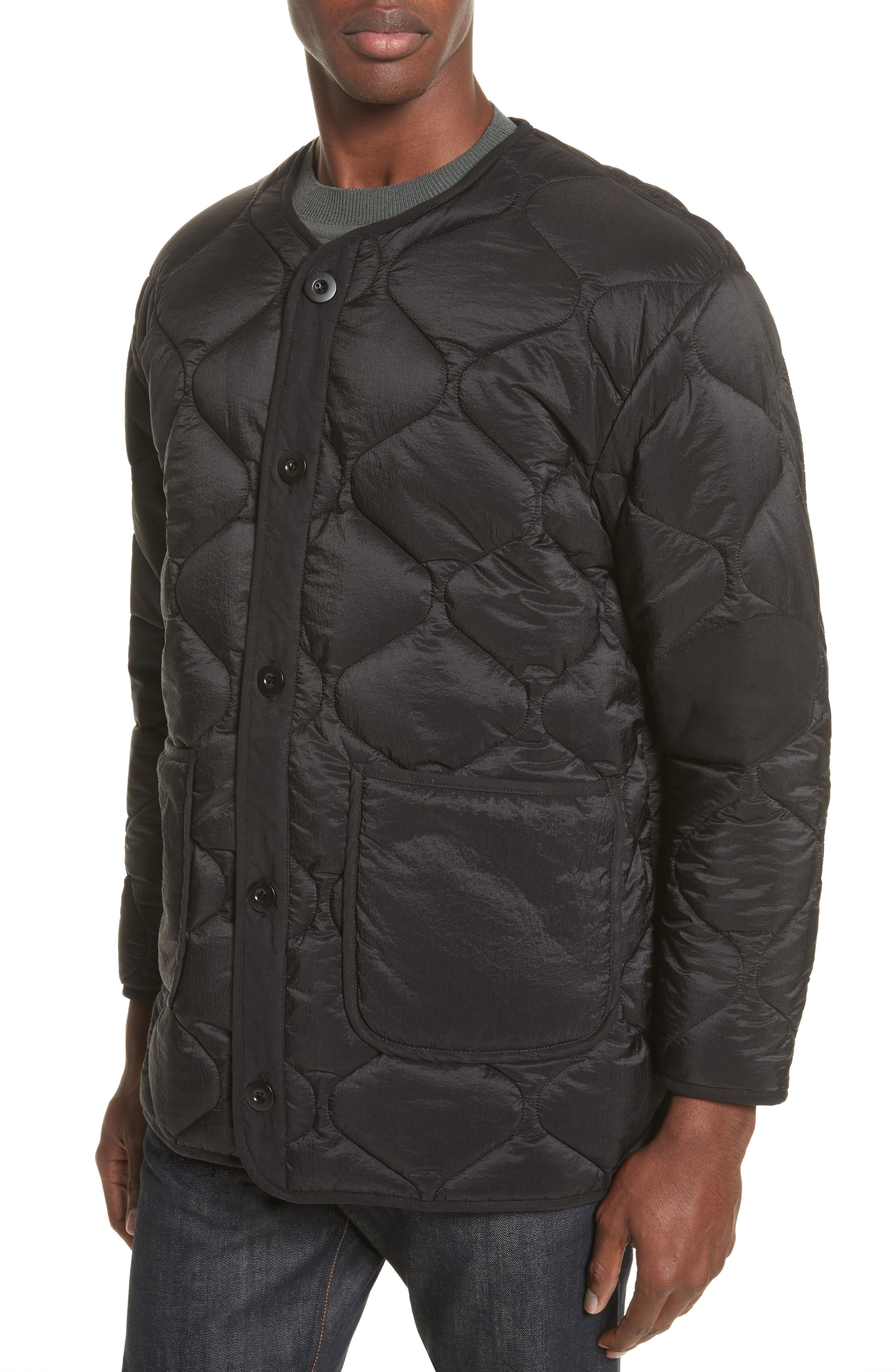 Quilted Liner Parachute Jacket,                             Alternate thumbnail 4, color,                             001