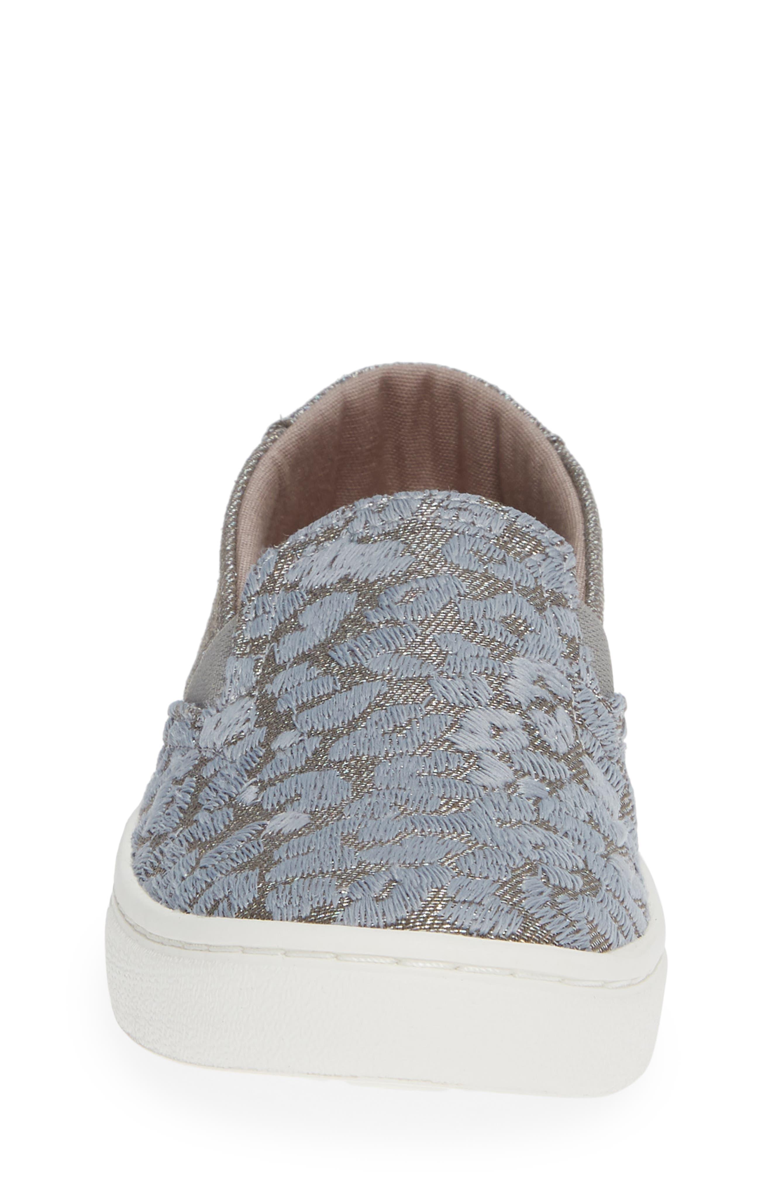 Luca Slip-On Sneaker,                             Alternate thumbnail 4, color,                             NEUTRAL GRAY CHEETAH/ TWILL