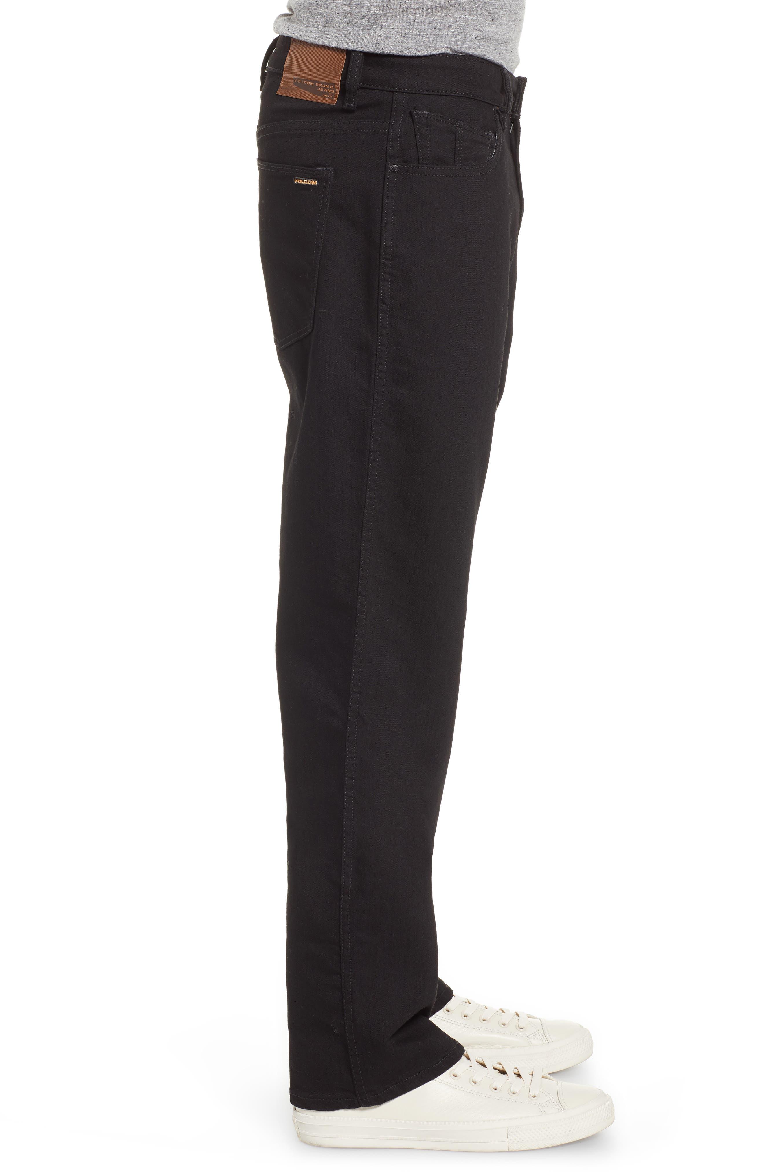 Kinkade Slim Fit Jeans,                             Alternate thumbnail 3, color,                             TOUGH BLACK