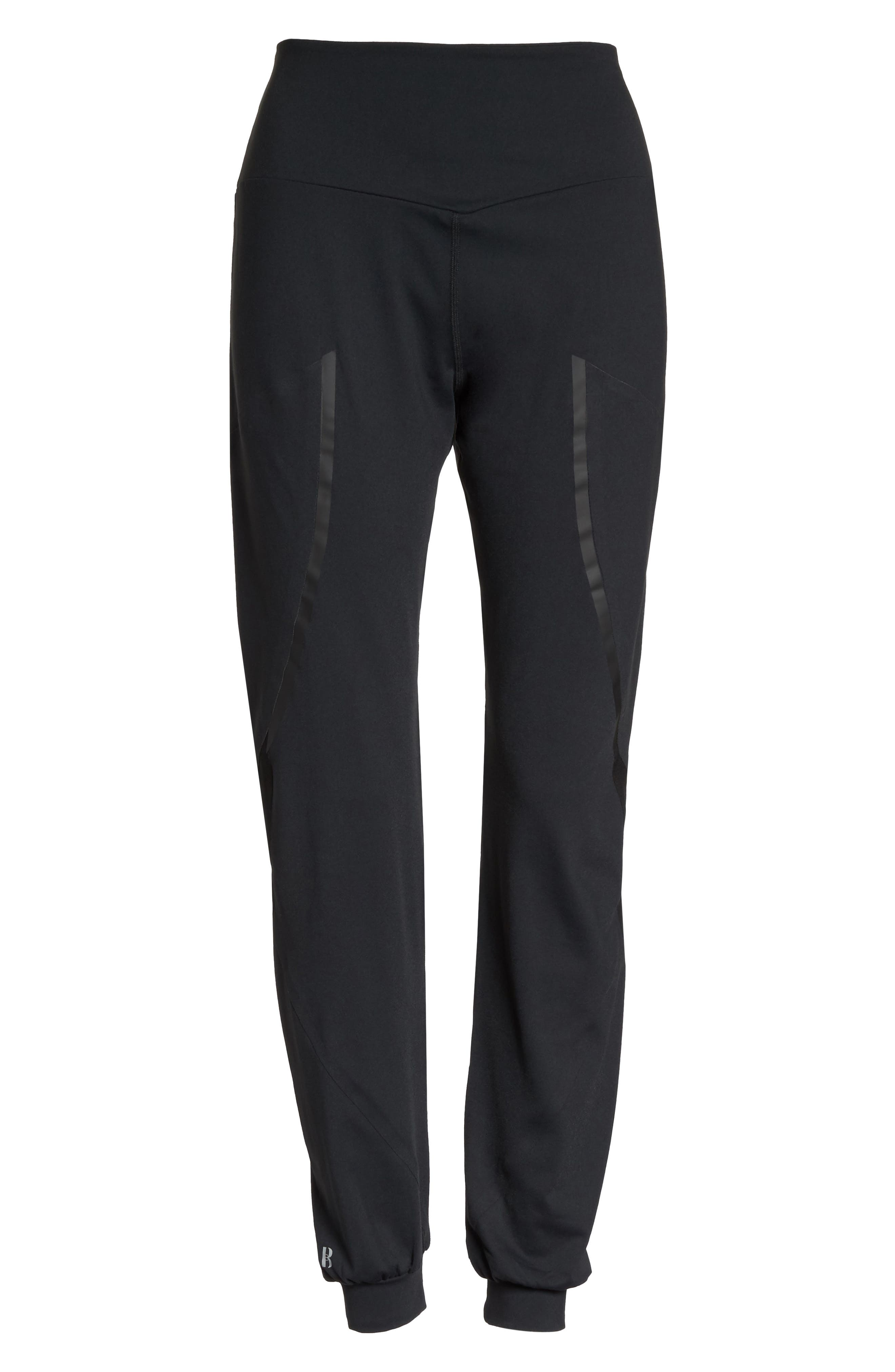 BoomBoom Athletica Track Pants,                             Alternate thumbnail 7, color,                             BLACK