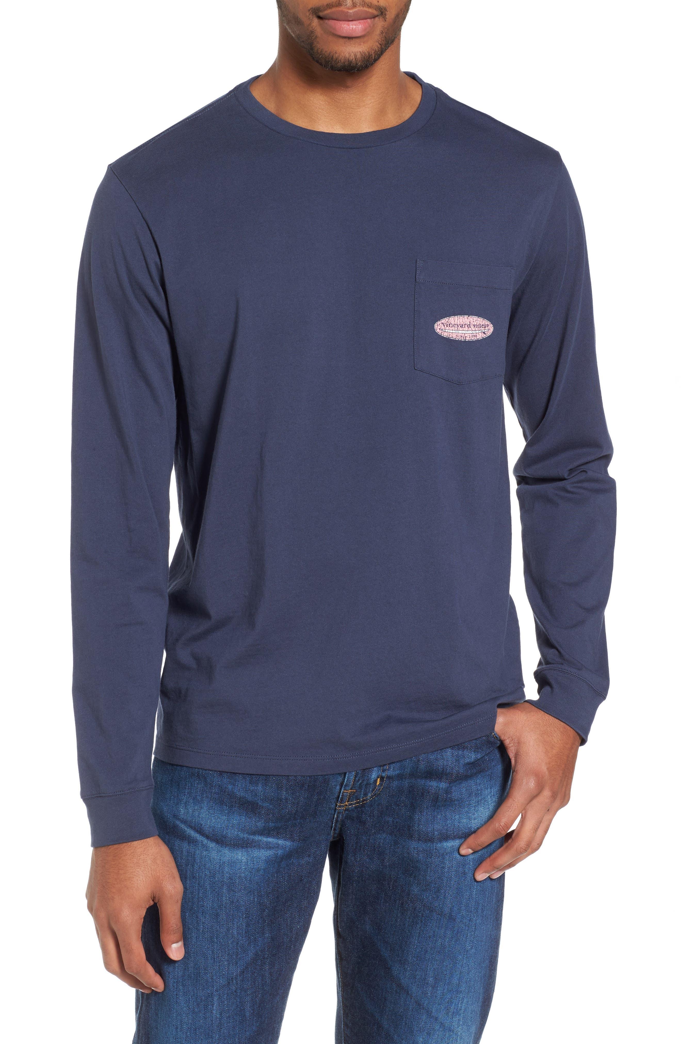 Surfboard Graphic Pocket T-Shirt,                             Main thumbnail 1, color,                             406
