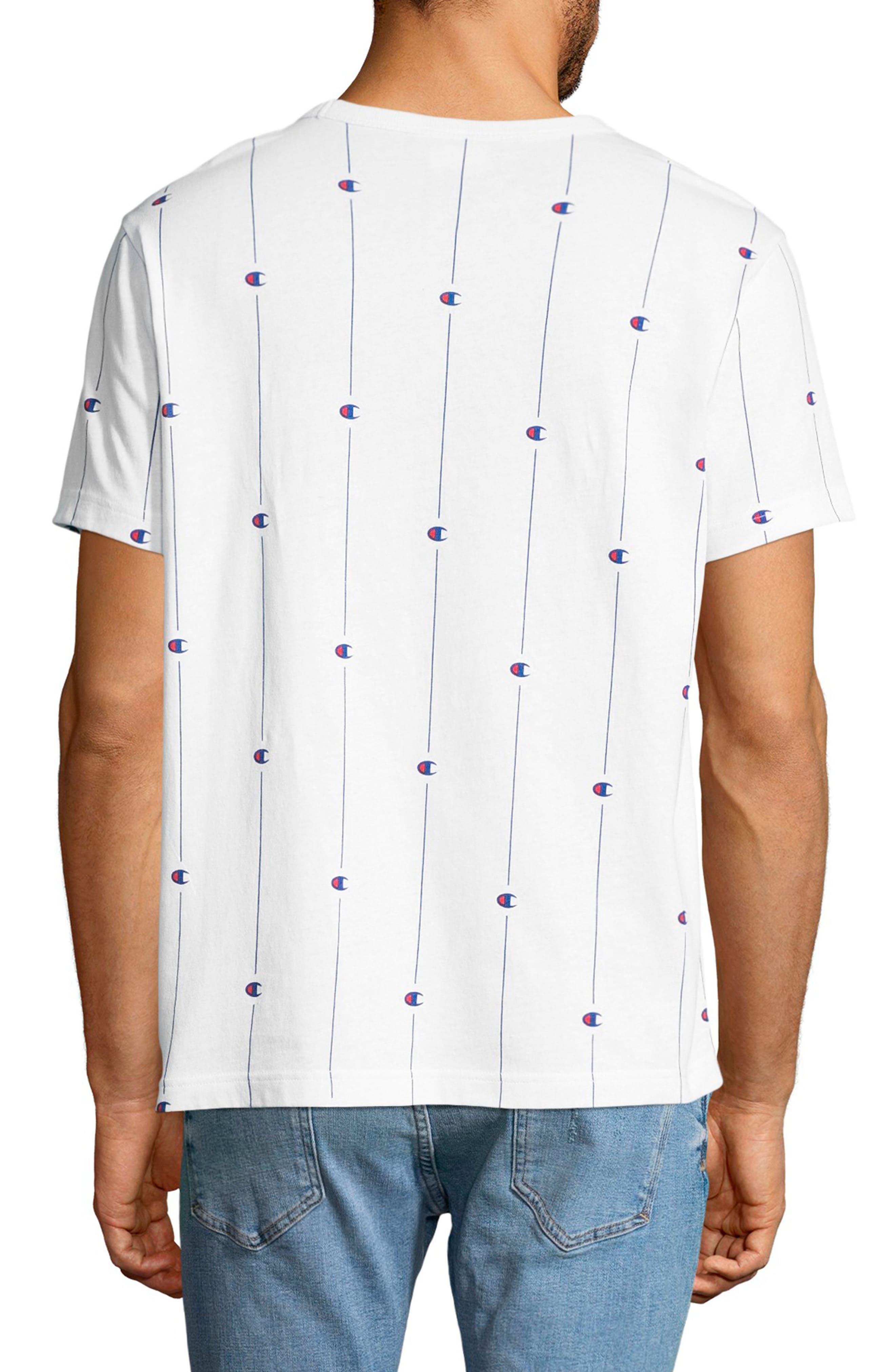 Allover Print Crewneck T-Shirt,                             Alternate thumbnail 2, color,                             100