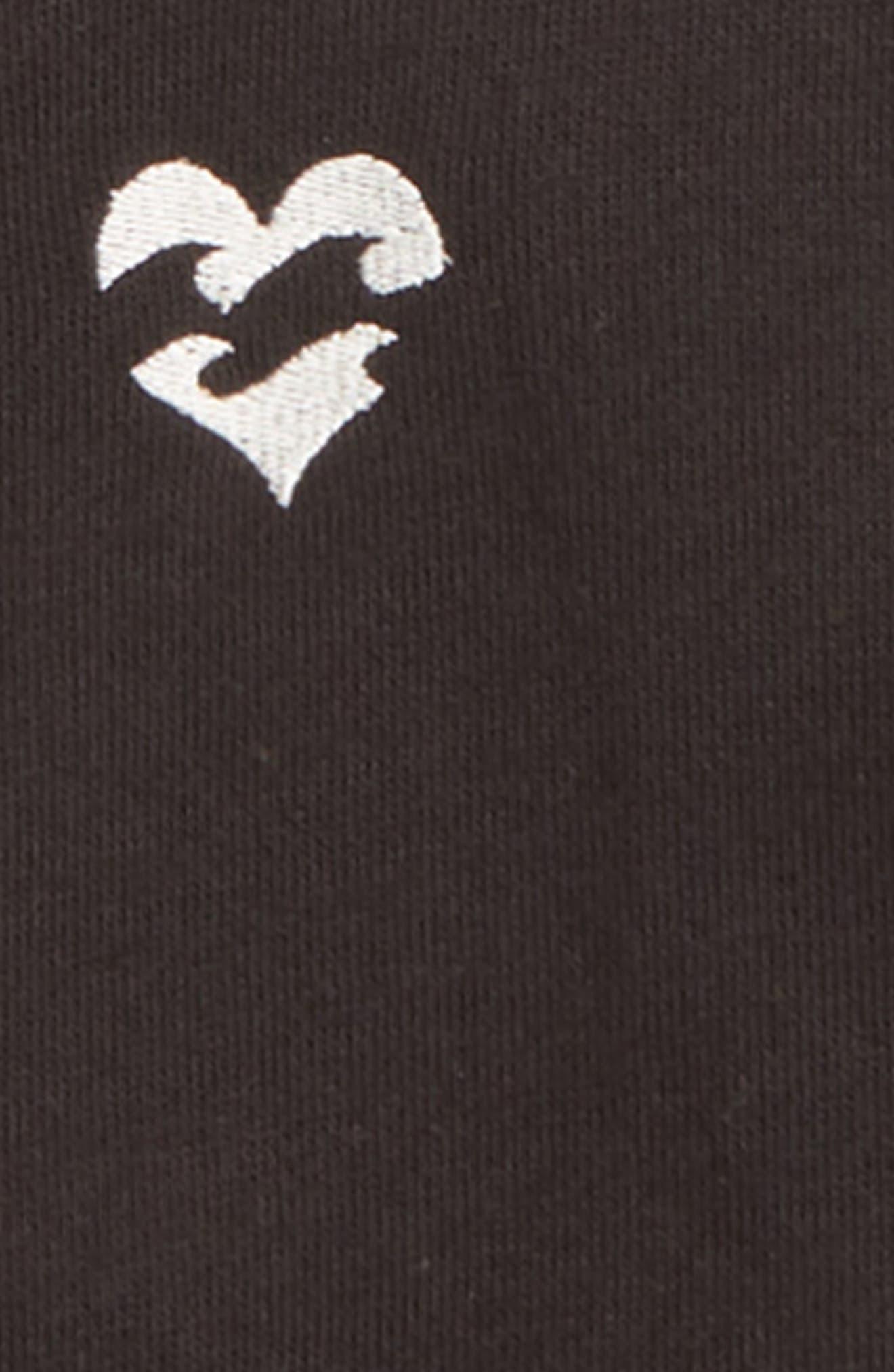 Girls Rule Full Zip Jacket,                             Alternate thumbnail 3, color,                             BLACK