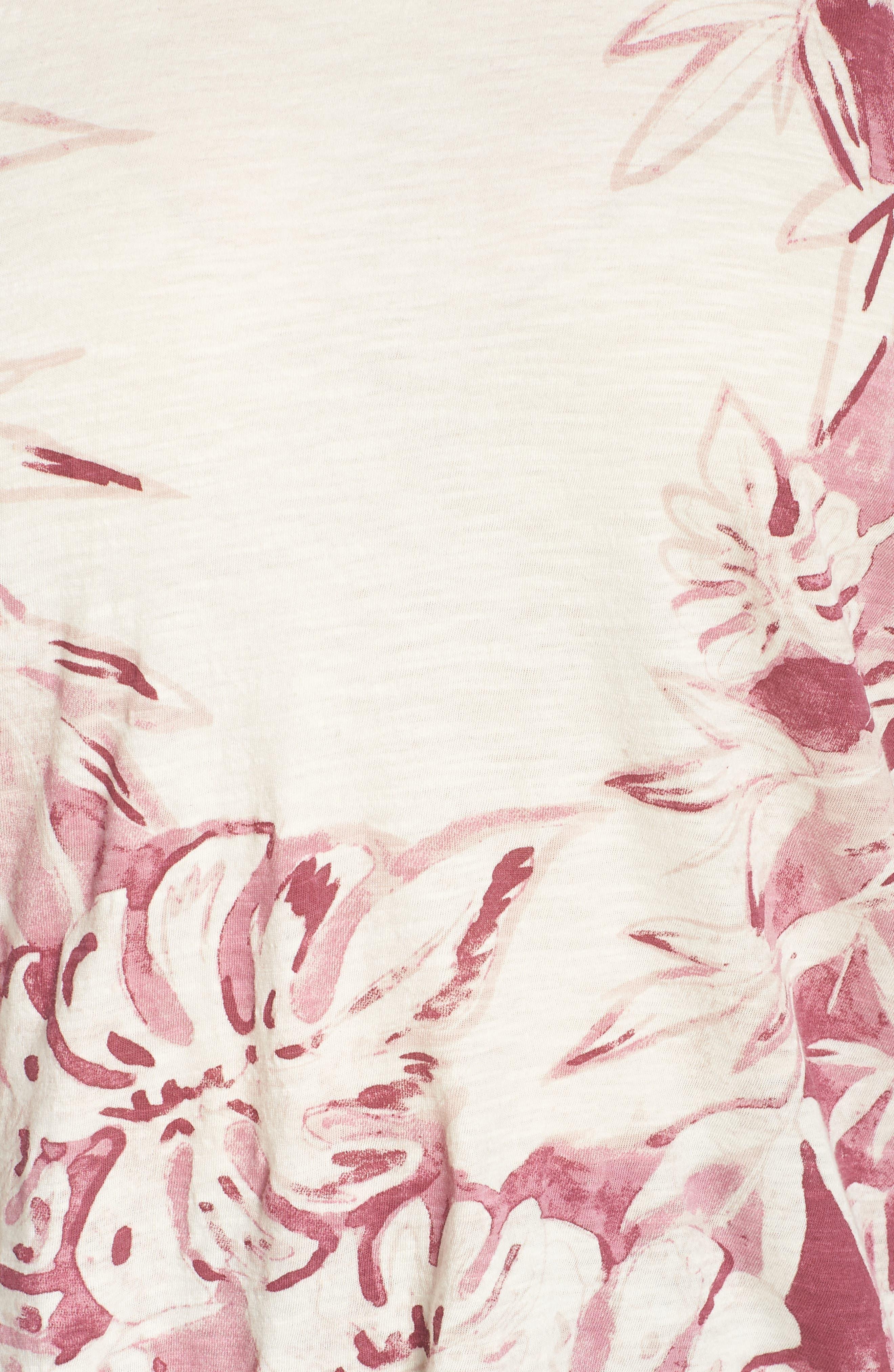 Print Floral Tank,                             Alternate thumbnail 6, color,                             BERRY MULTI
