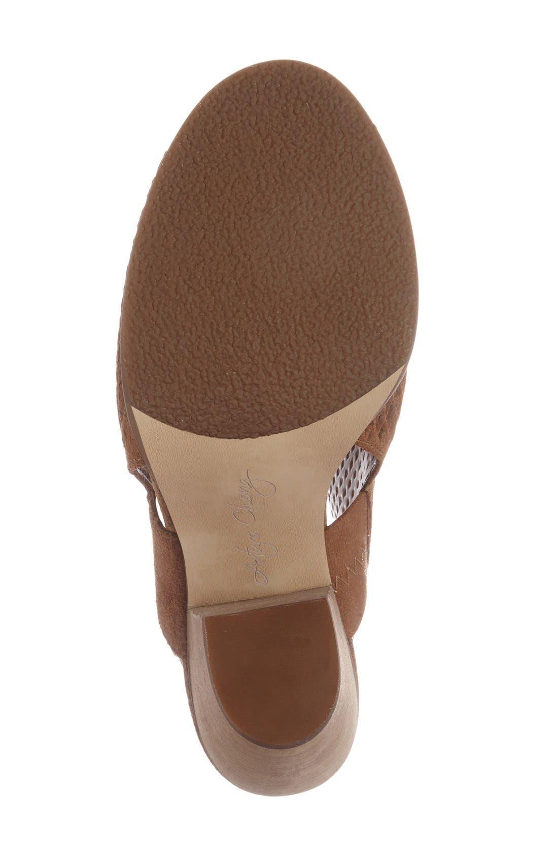 'Janel' Perforated Slingback Sandal,                             Alternate thumbnail 2, color,                             201